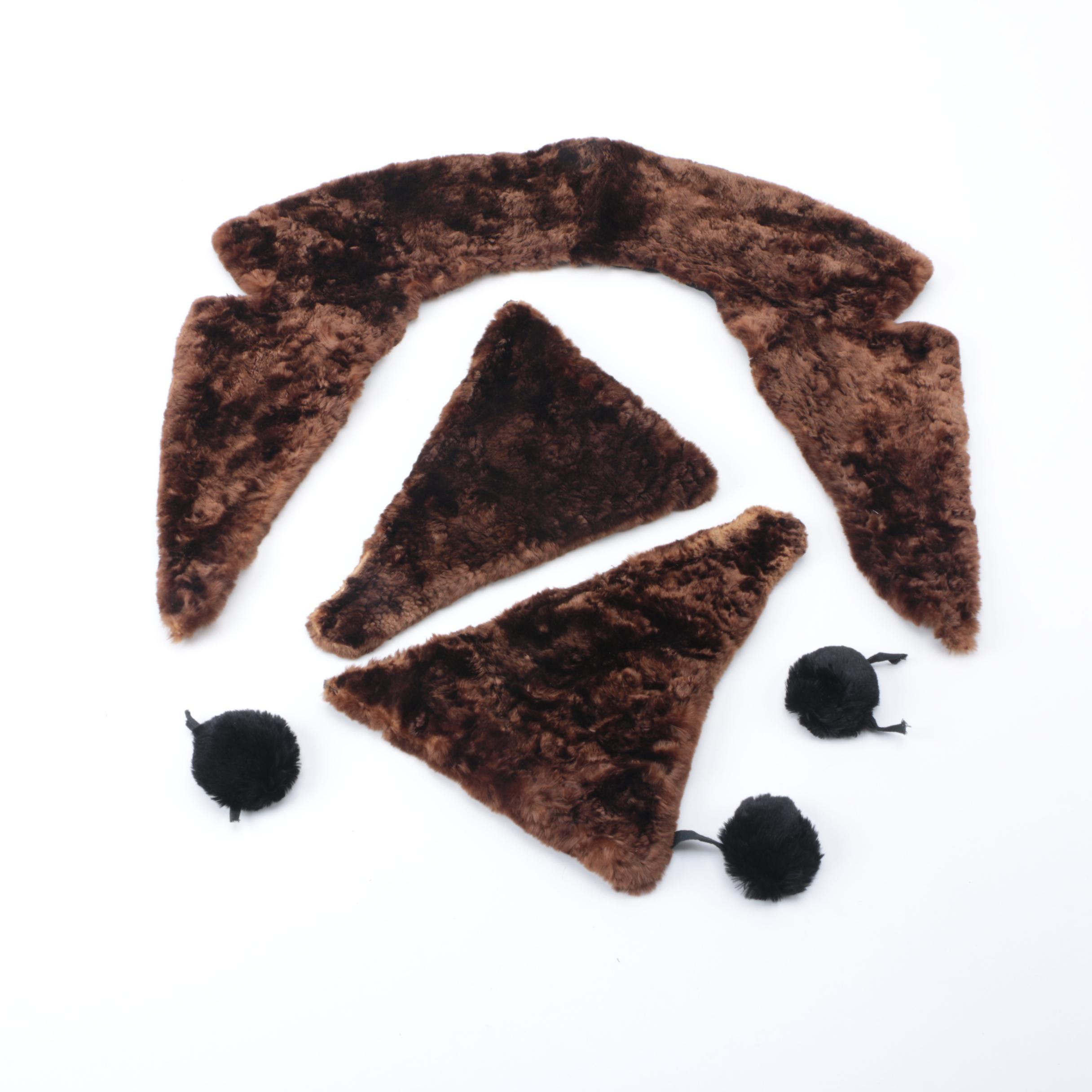 Sheared Mink Fur Accessories