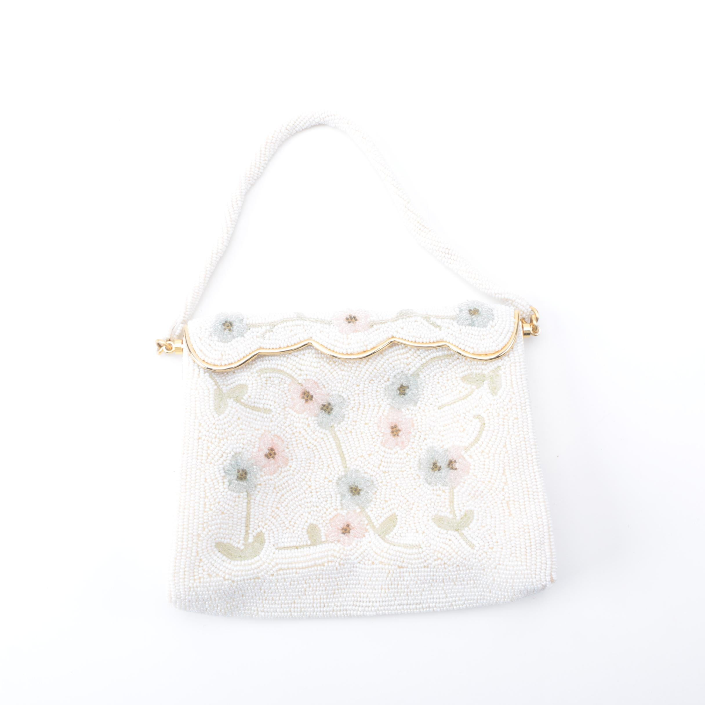 Vintage Beaded Floral Handbag