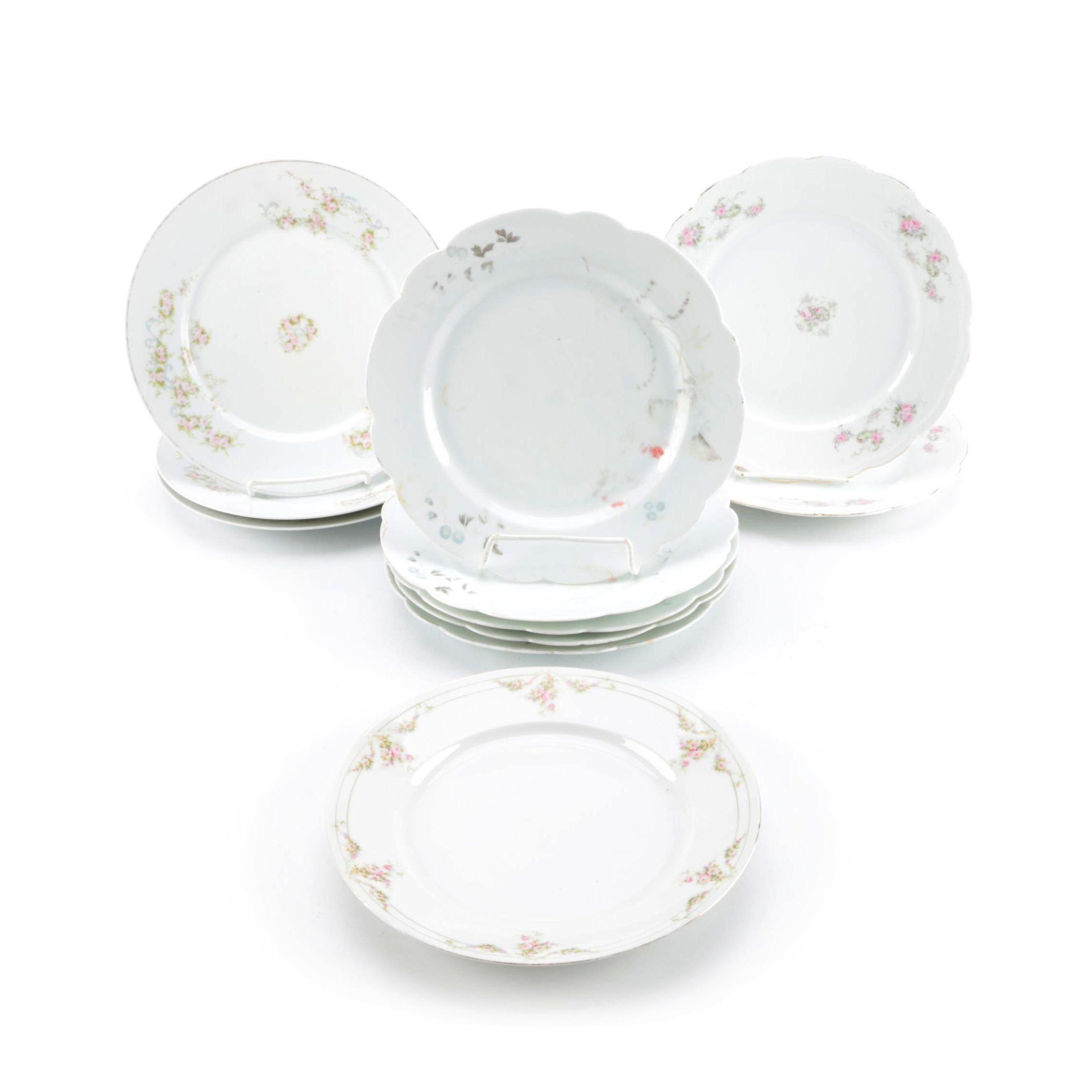 Austrian Porcelain Including Antique B. S. M.