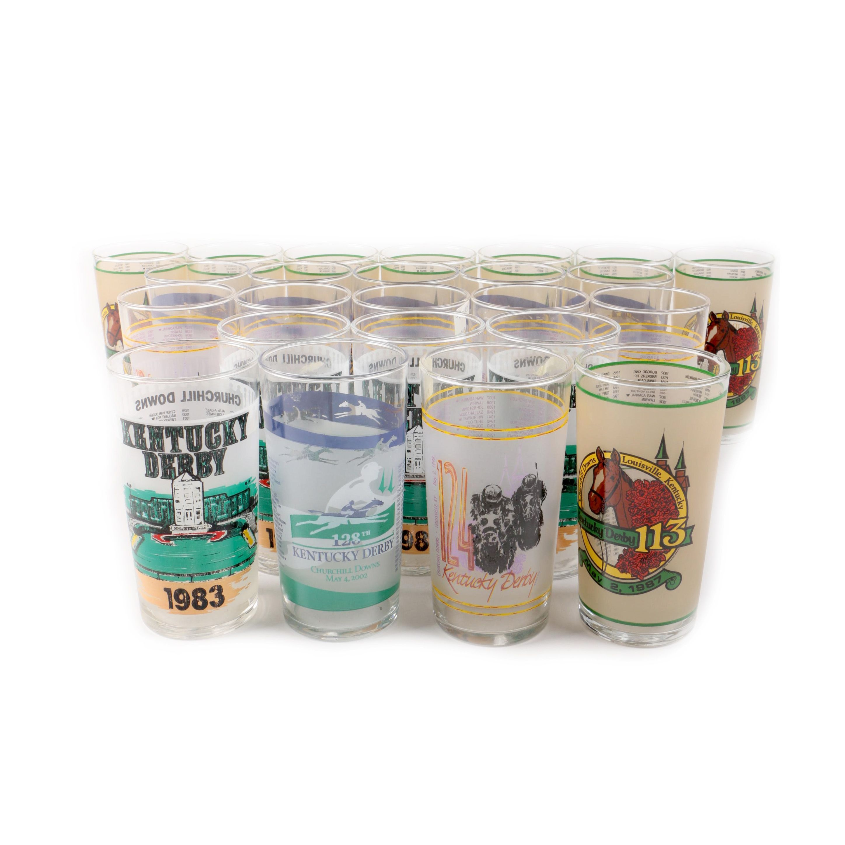 Kentucky Derby Commemorative Glasses