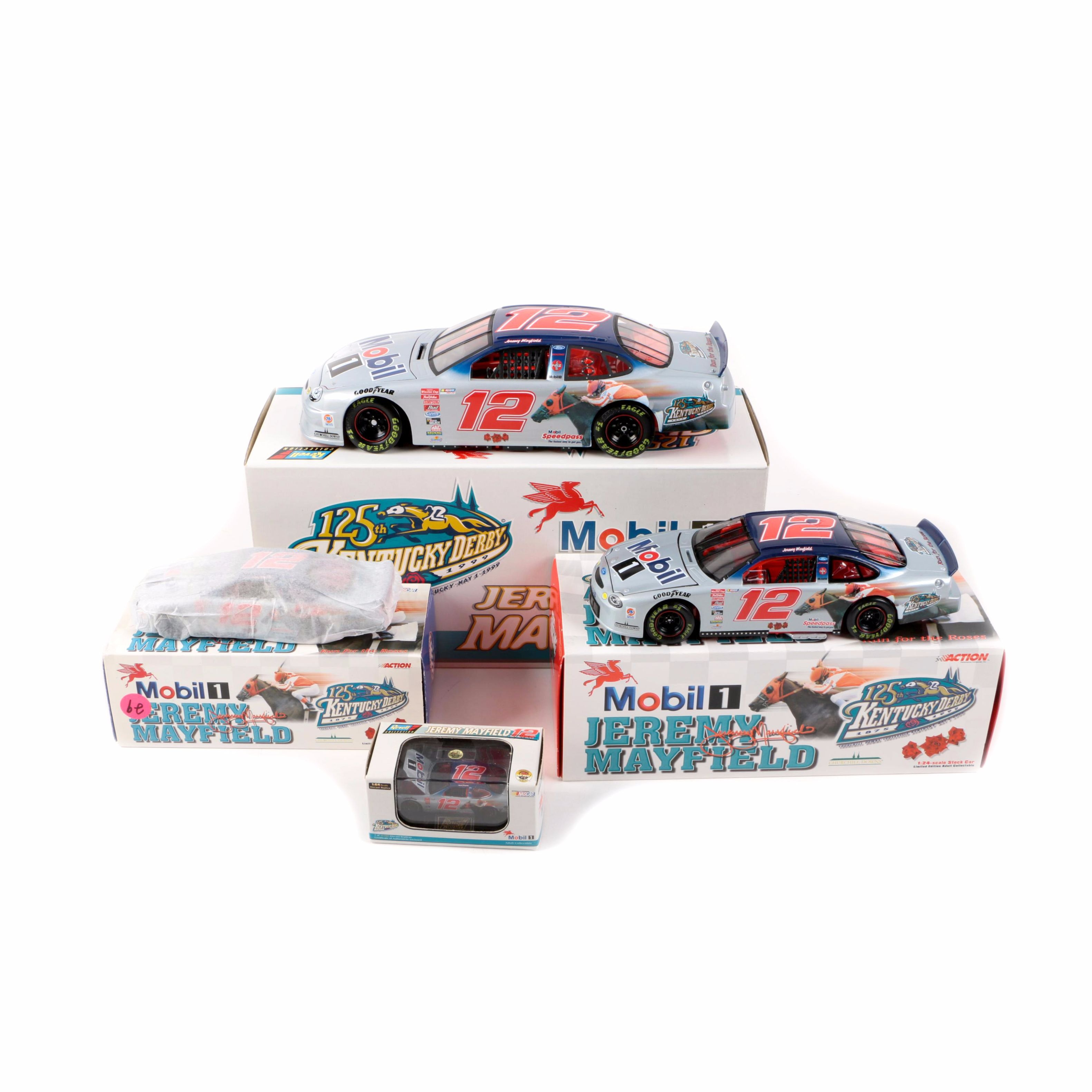Collection of Kentucky Derby Commemorative Jeremy Mayfield Die-Cast Cars