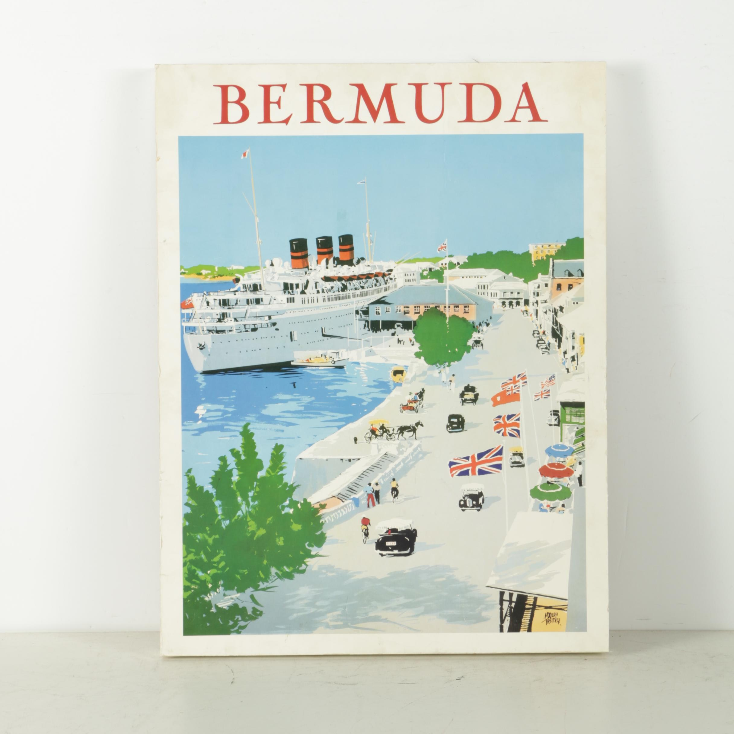 "Offset Lithograph After Adolph Treidler's Illustration ""Bermuda"""