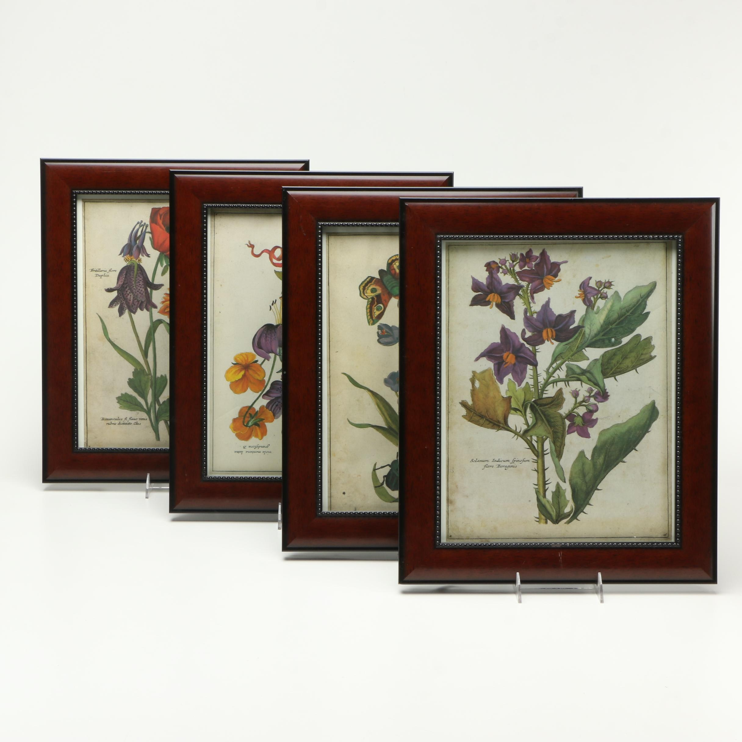 Offset Lithographs of Blooming Flowers
