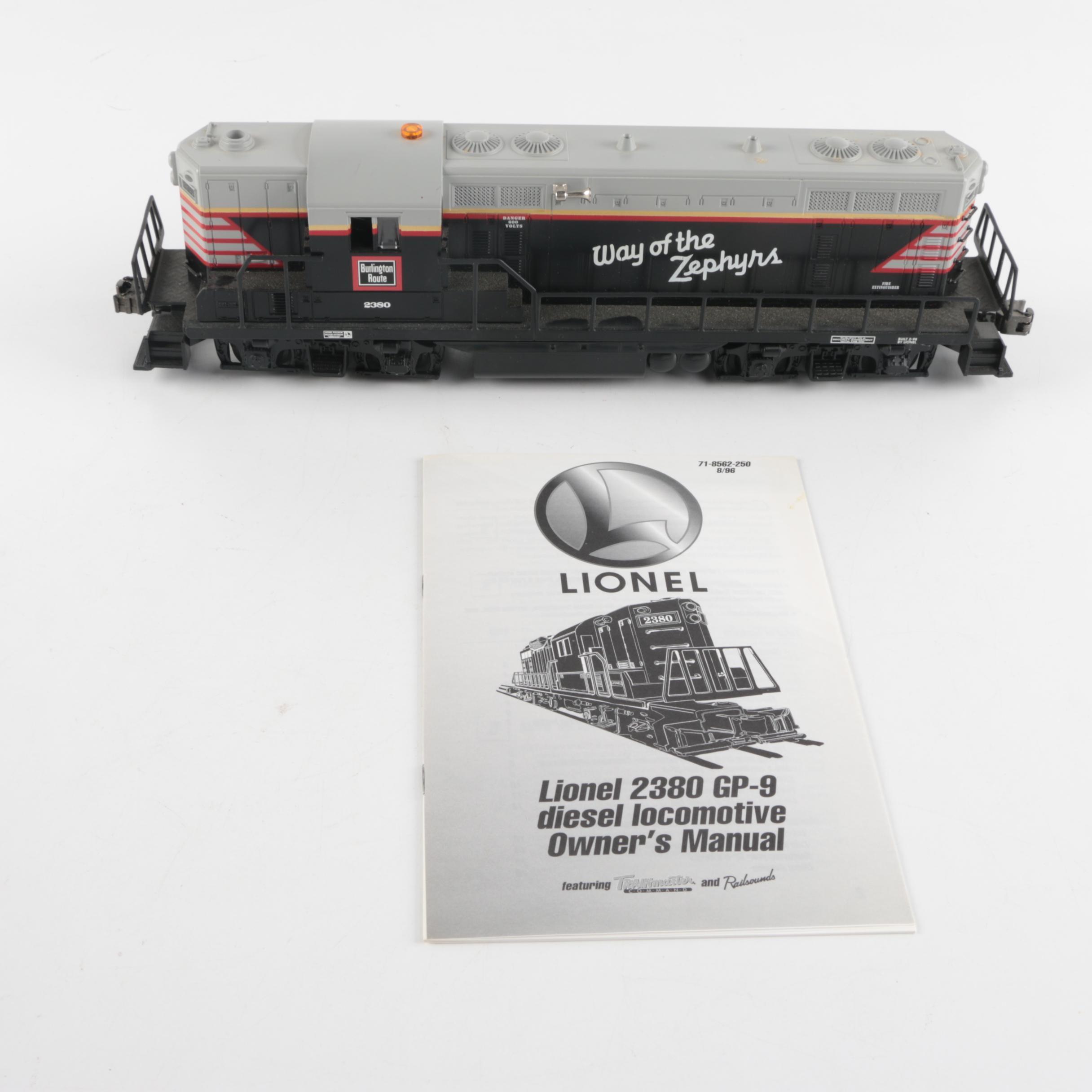Lionel O Scale Chicago, Burlington & Quincy GP-9 Diesel Engine