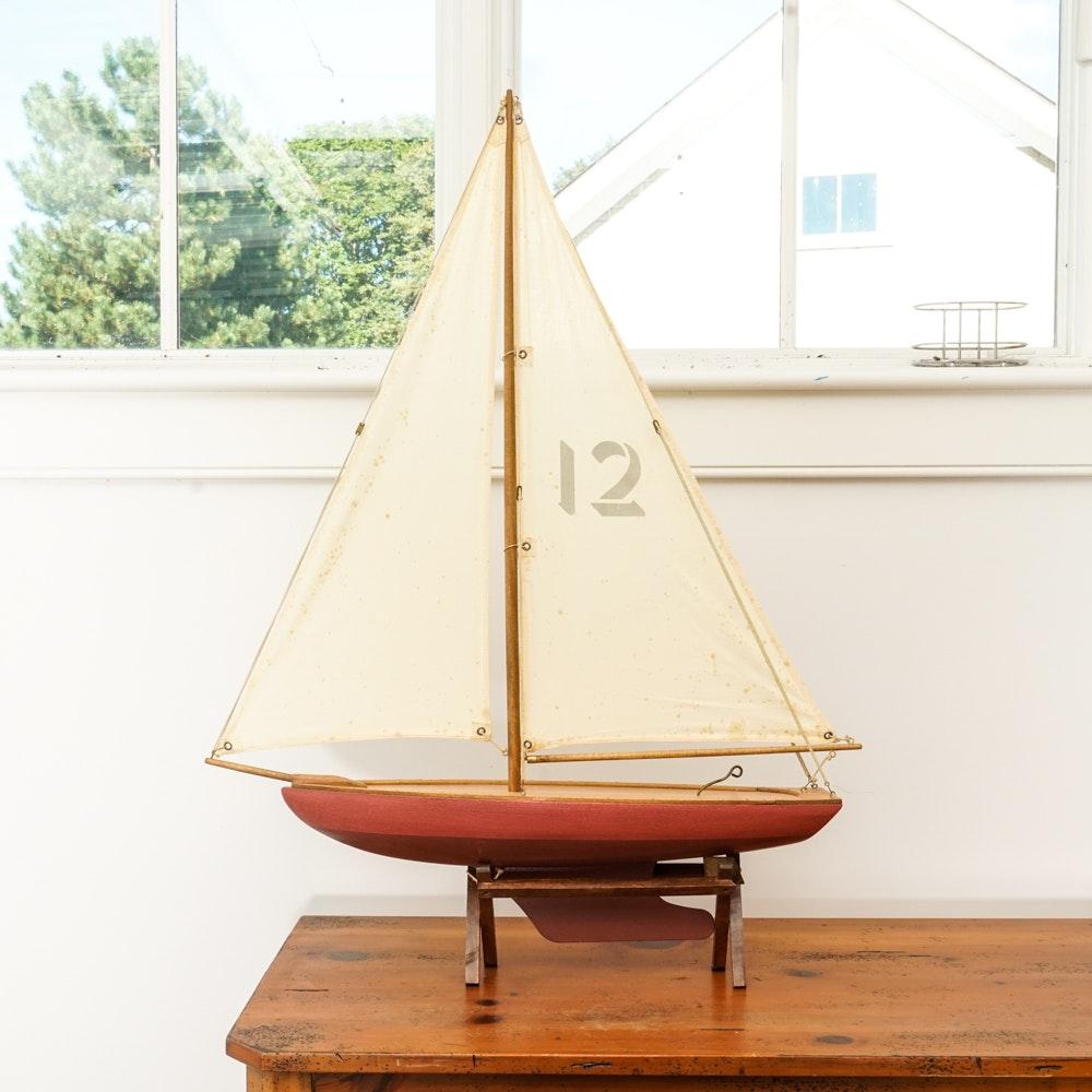 Wooden Sailboat