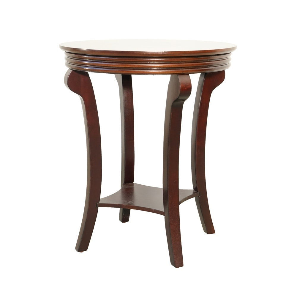 Mahogany Finished Round Occasional Table by The Bombay Company