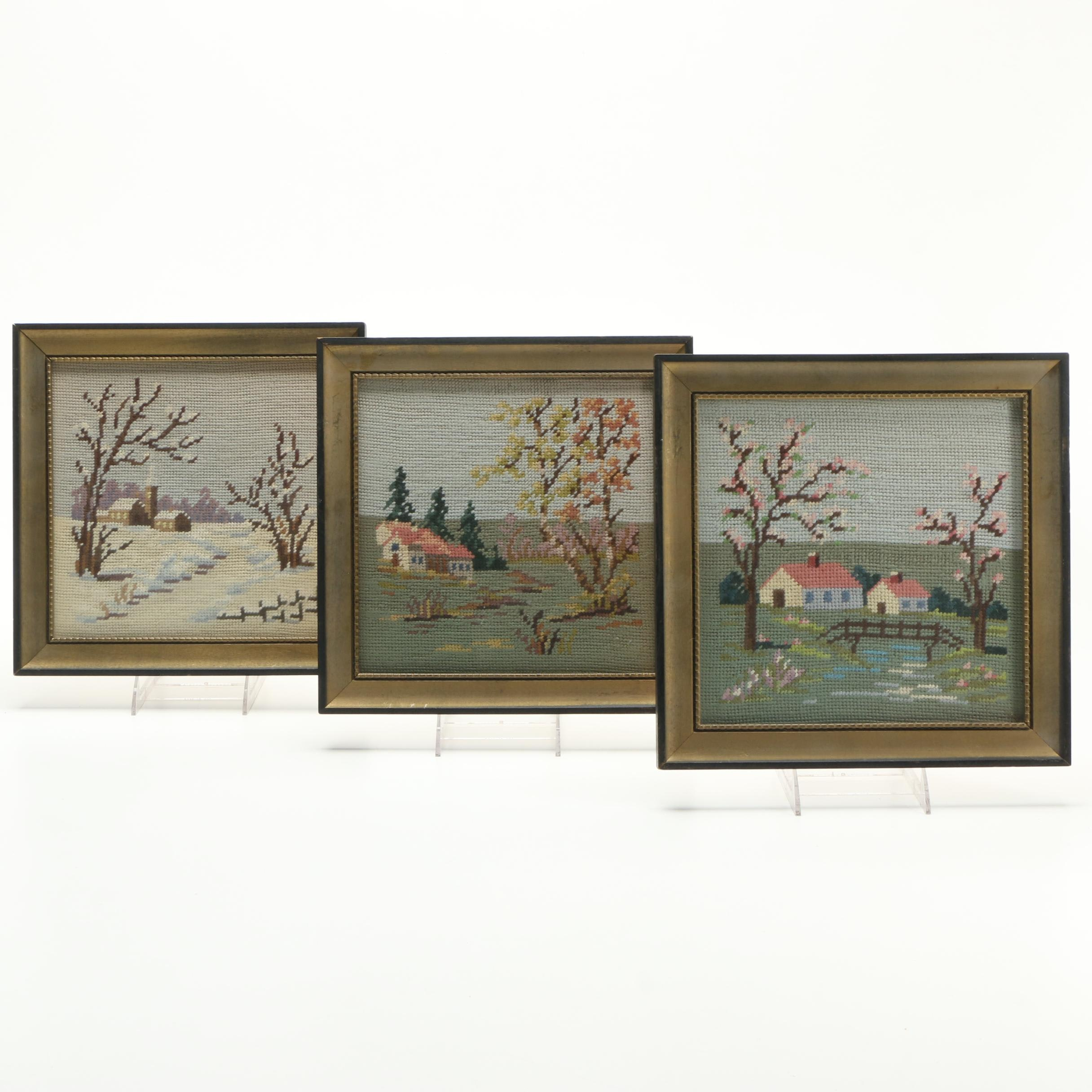 Needlepoints of Seasonal Landscapes
