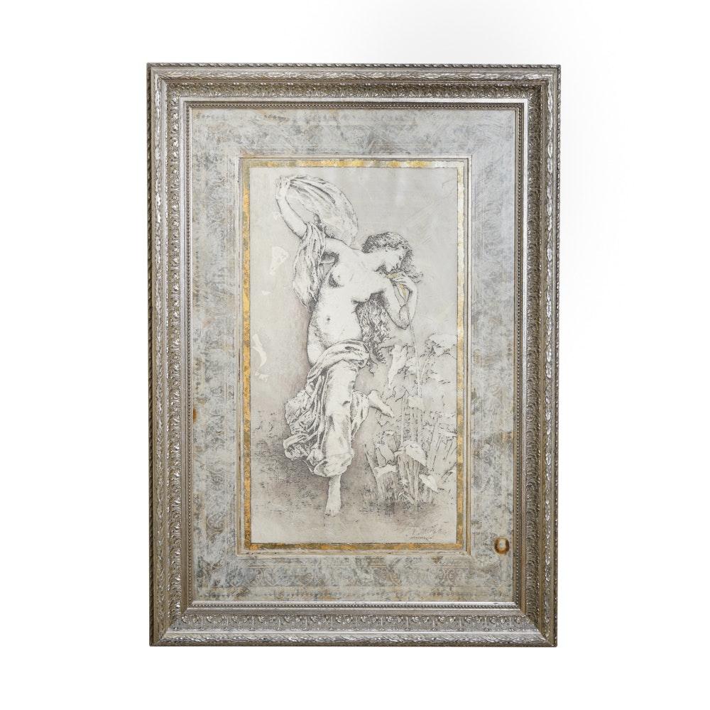 Douglas Embellished Print of a Dancing Woman
