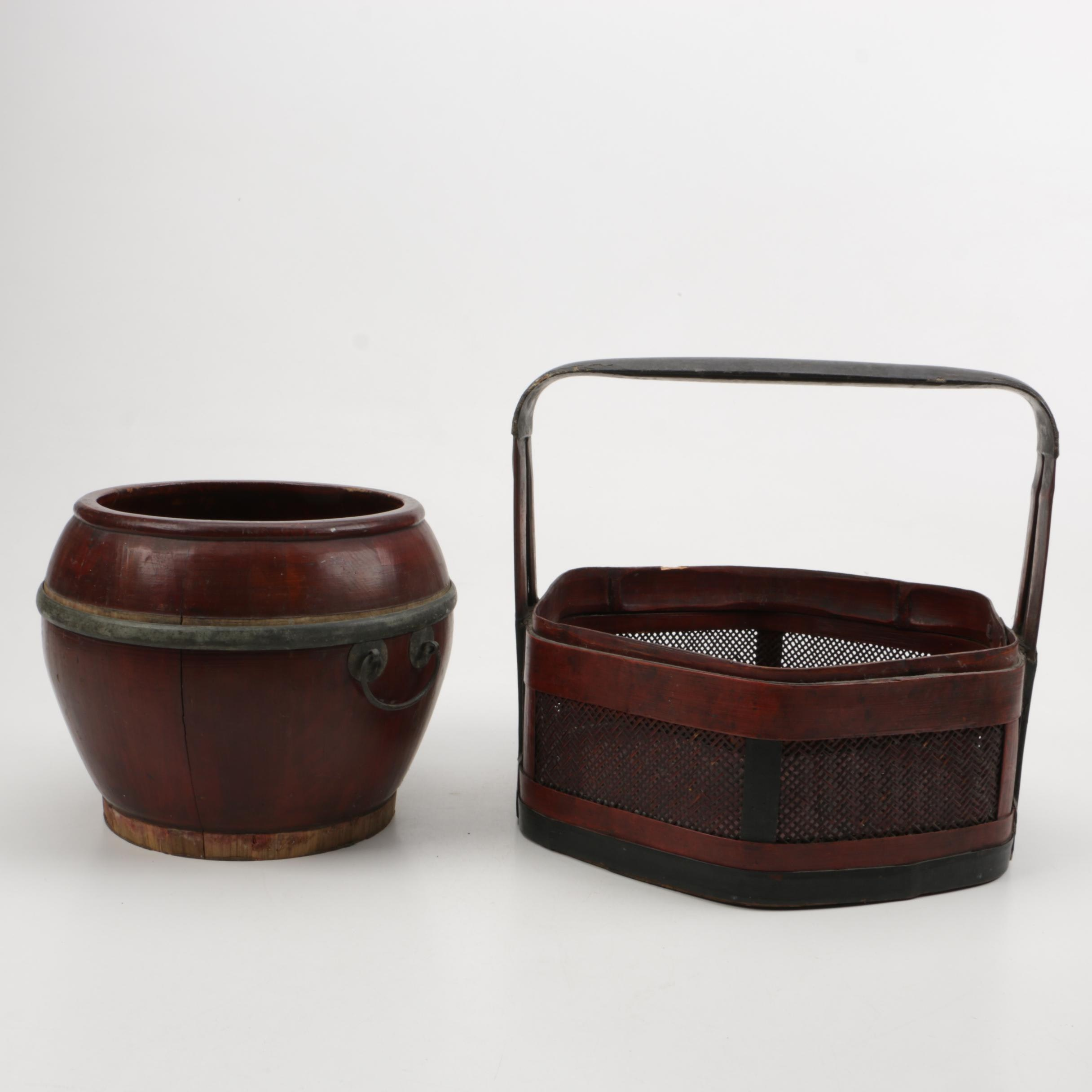 Chinese Wooden Lunch Baskets