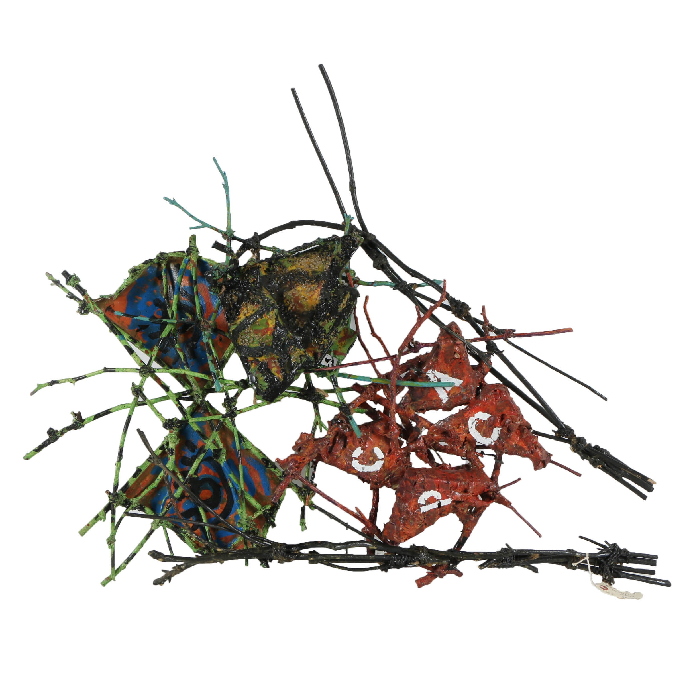 "Frank Kowing Mixed Media Sculpture ""Dickie-Bird"""