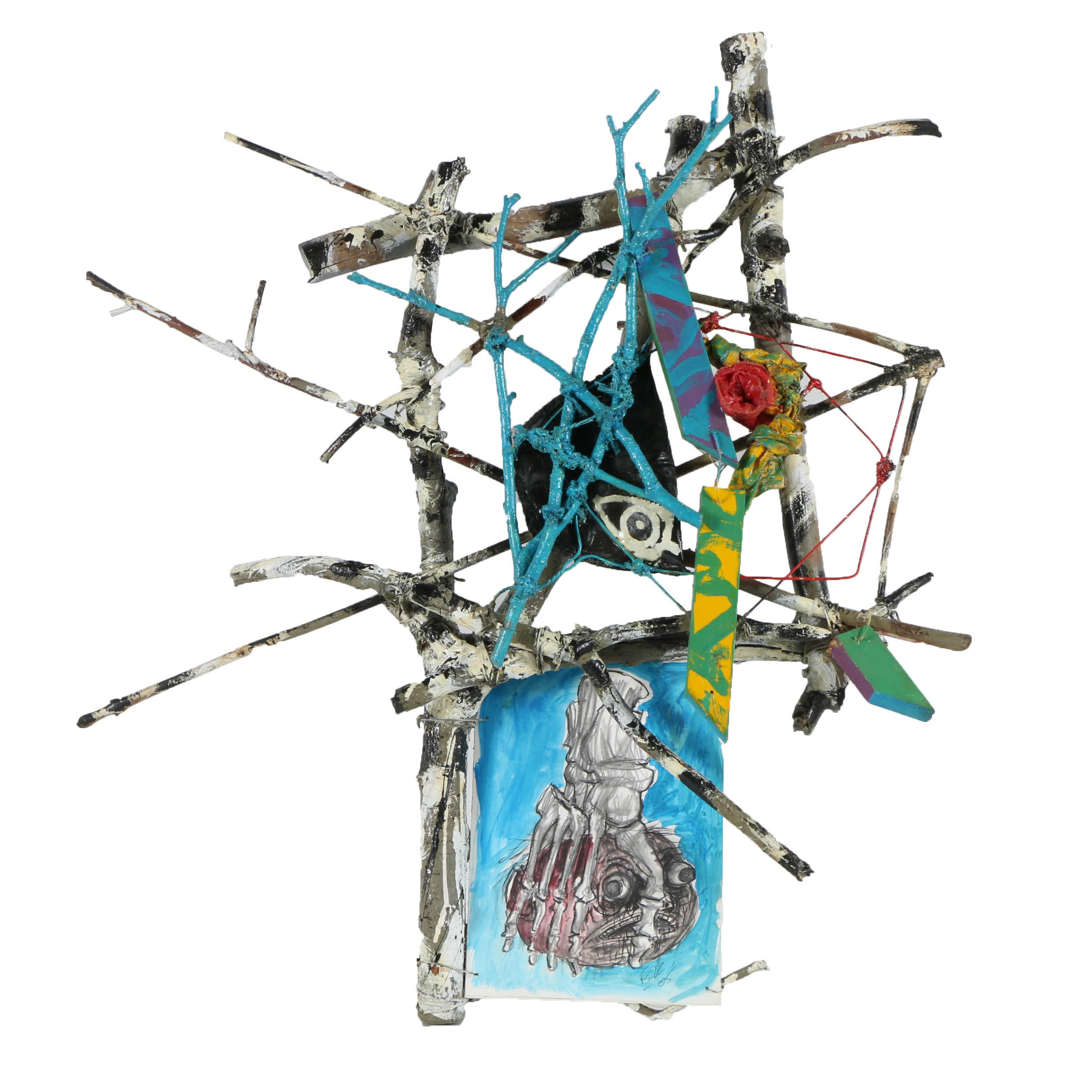"""Frank Kowing Mixed Media Sculpture """"The Rose"""""""