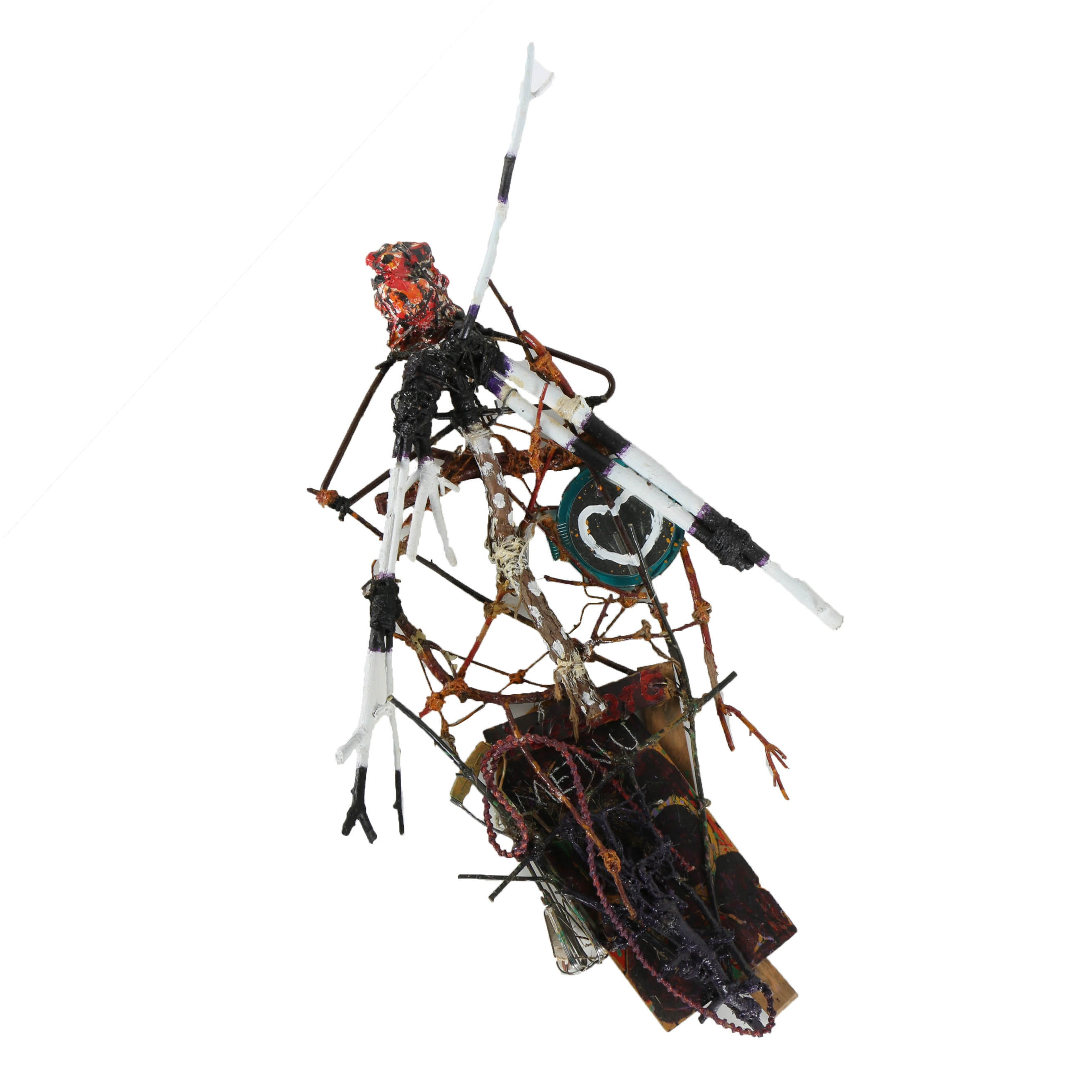 """Frank Kowing Mixed Media Sculpture """"Void This Work"""""""