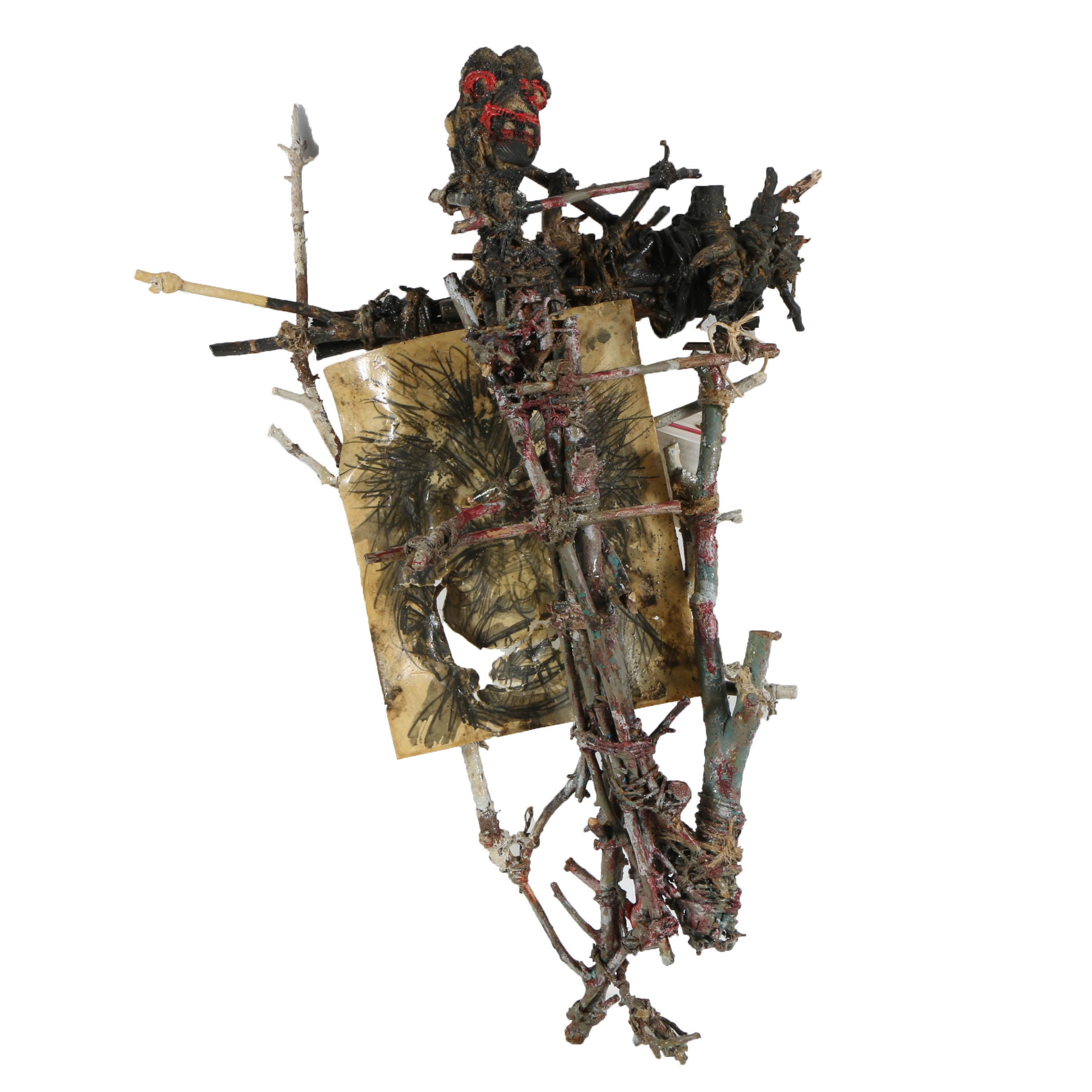 """Frank Kowing Mixed Media Sculpture """"Dystopia"""""""