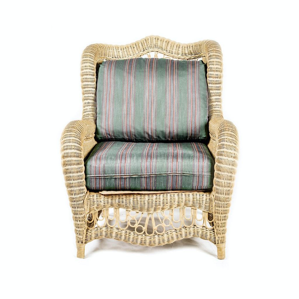Woven Wicker Lounge Chair