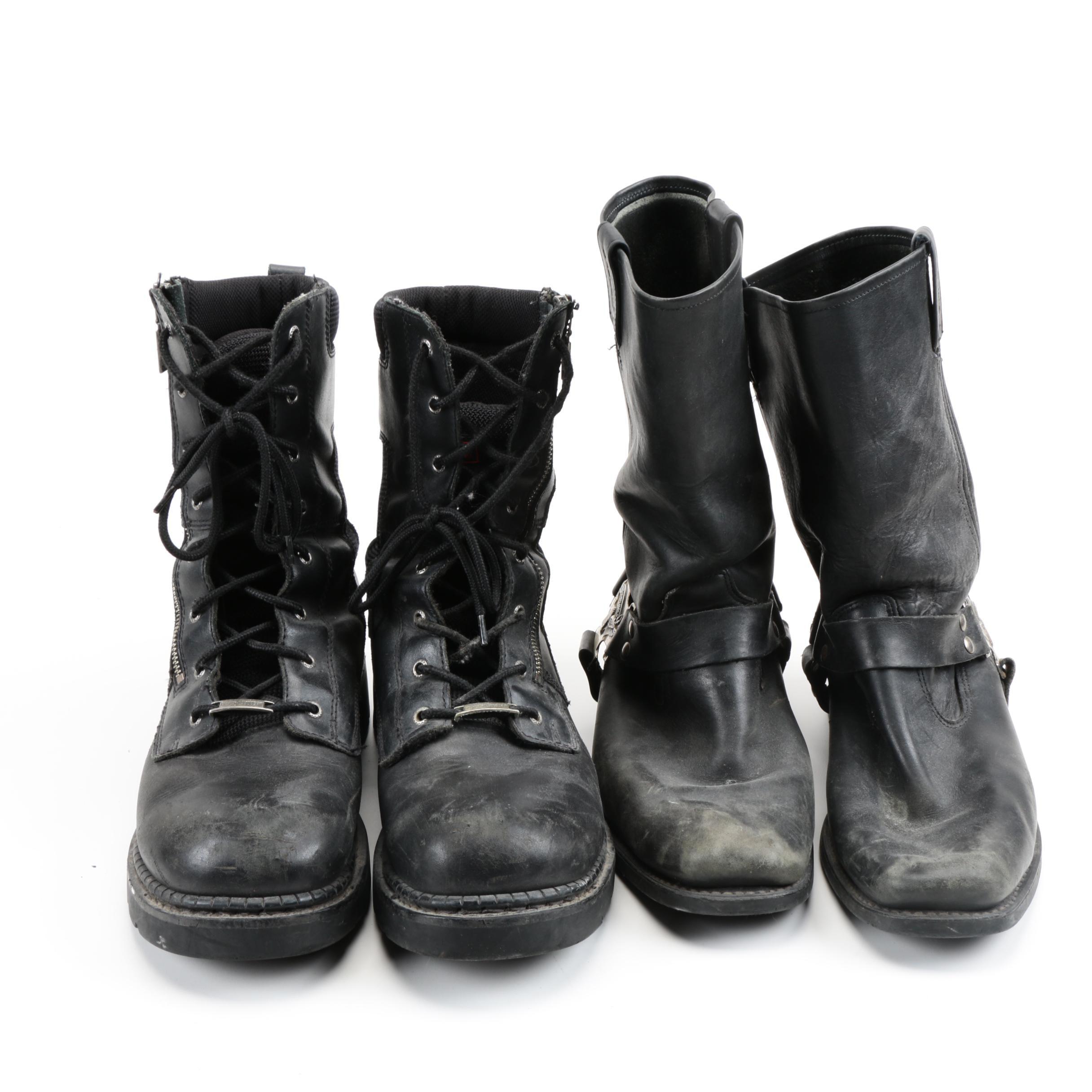 Men's Harley-Davidson Black Leather Boots