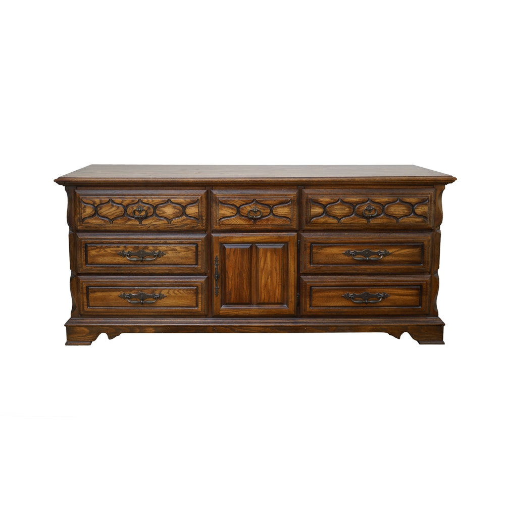Vintage Oak Dresser by Sumter Cabinet Company