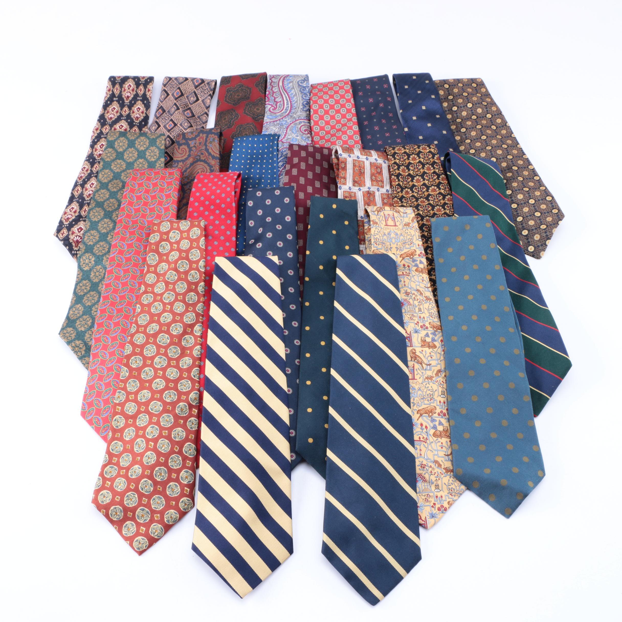 Men's Neckties Including Salvatore Ferragamo and Burberrys