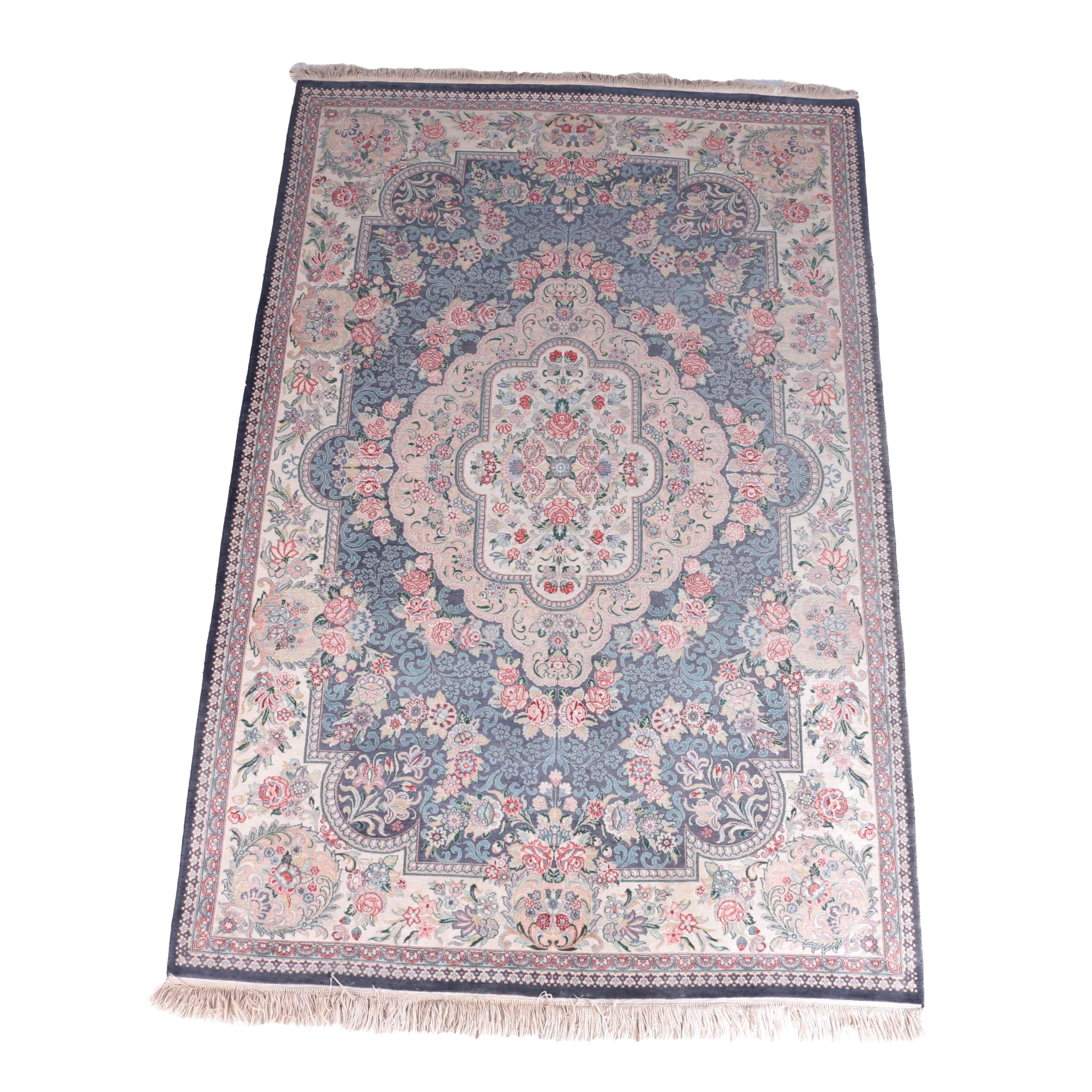 Hand-Knotted Pakistani Kashan Wool Area Rug for Bloomingdale's