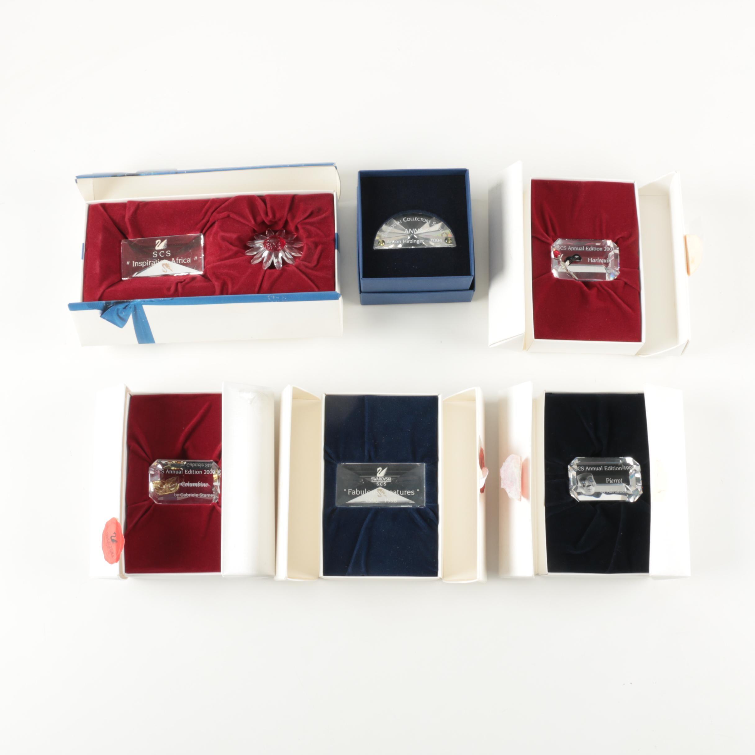 Swaroski Crystal Commemorative Paperweights