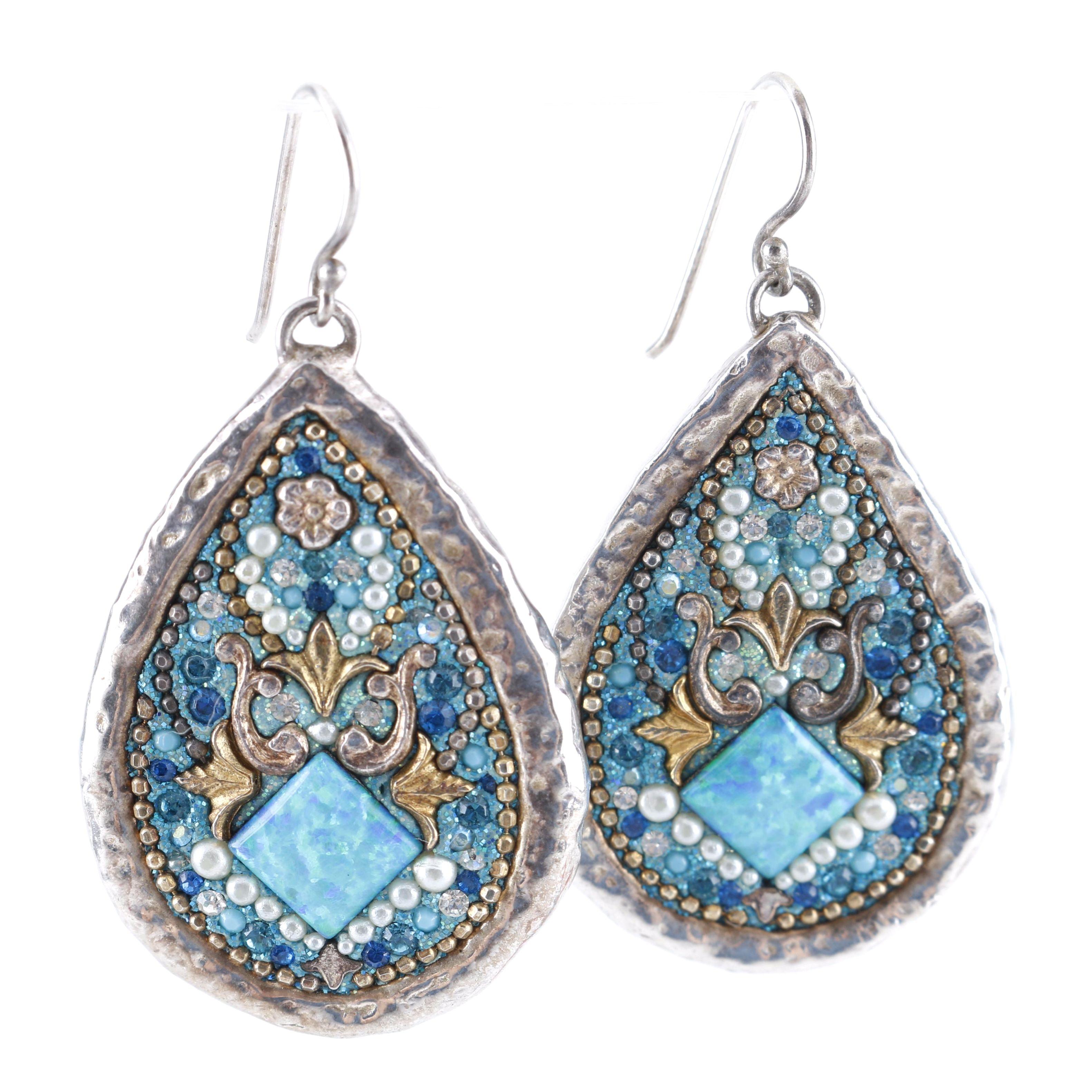 Orit Schatzman Sterling Silver Dangle Earrings