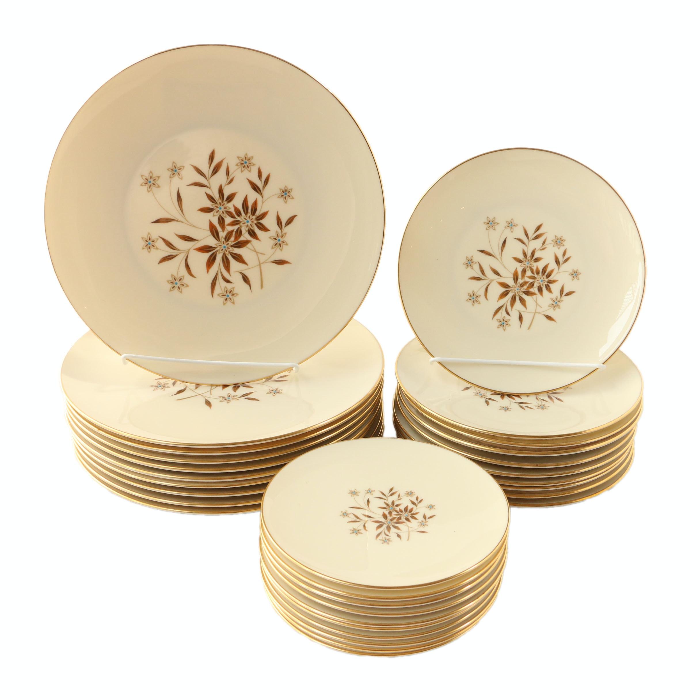 """Lenox """"Starlight"""" China Plates"""