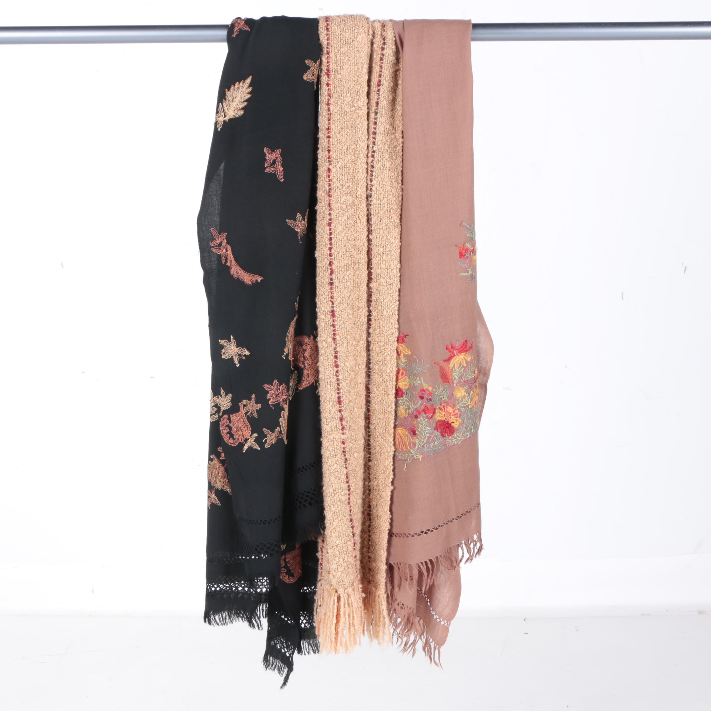 Women's Embroidered and Knit Scarves