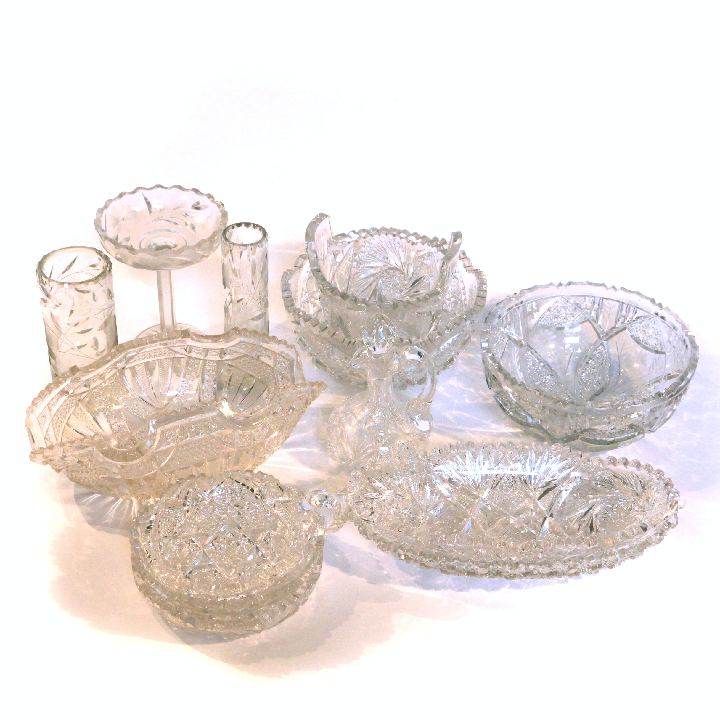 Crystal and Cut Glass Dishes and Platters
