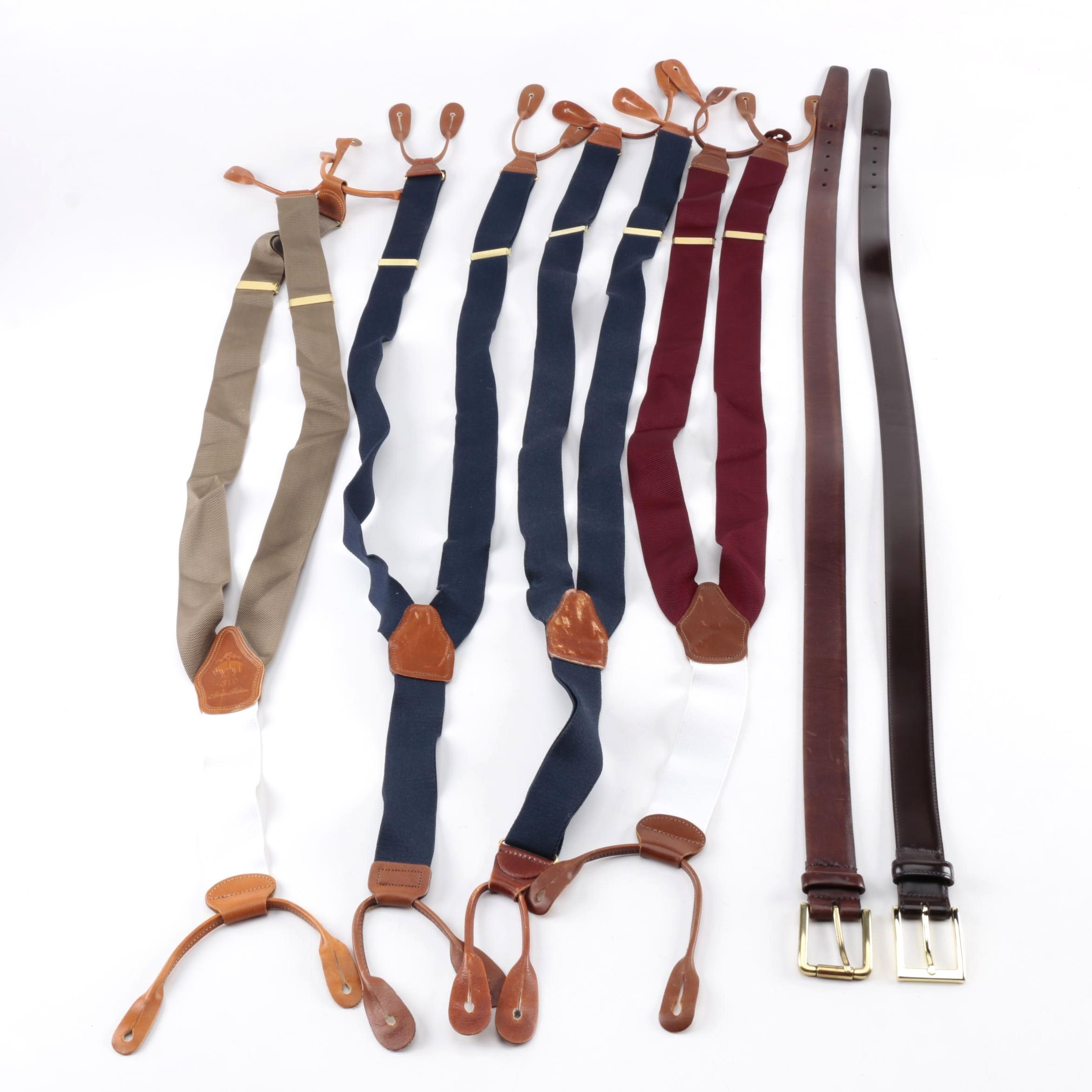 Men's Suspenders and Belts with Brooks Brothers