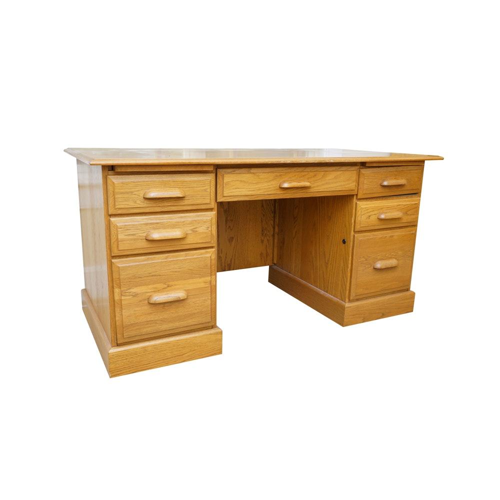 Riverside Furniture Oak Desk