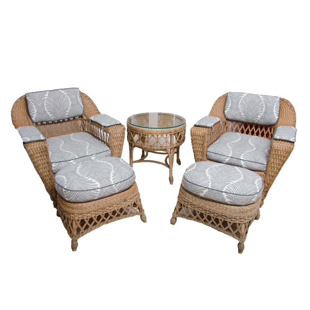 Henry Link Smithsonian Collection Wicker Furniture Set