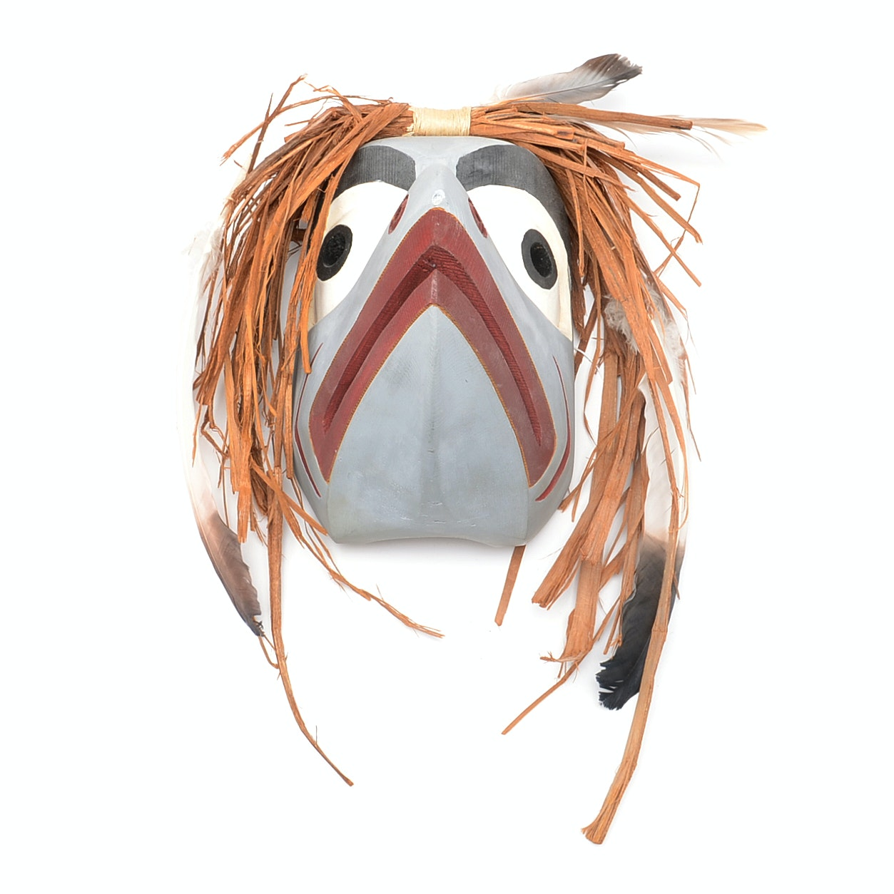 Native American Carved Wood Salmon Mask