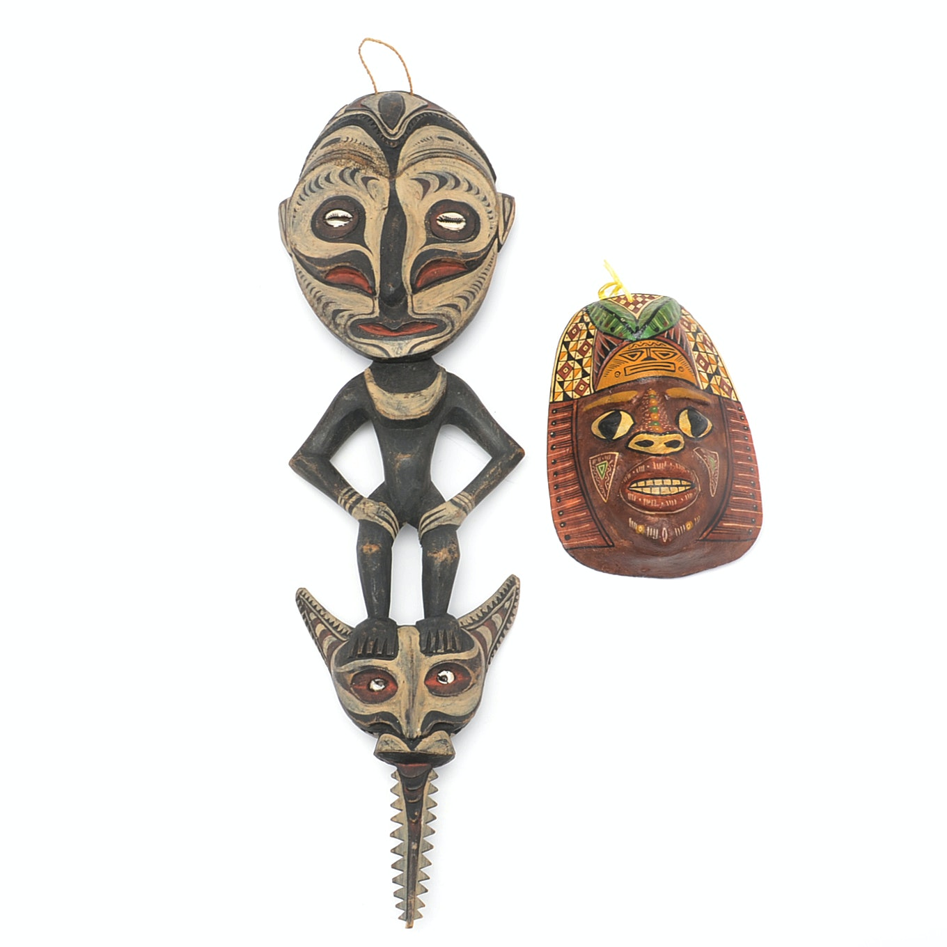 Native American Style Mask and African Style Carving