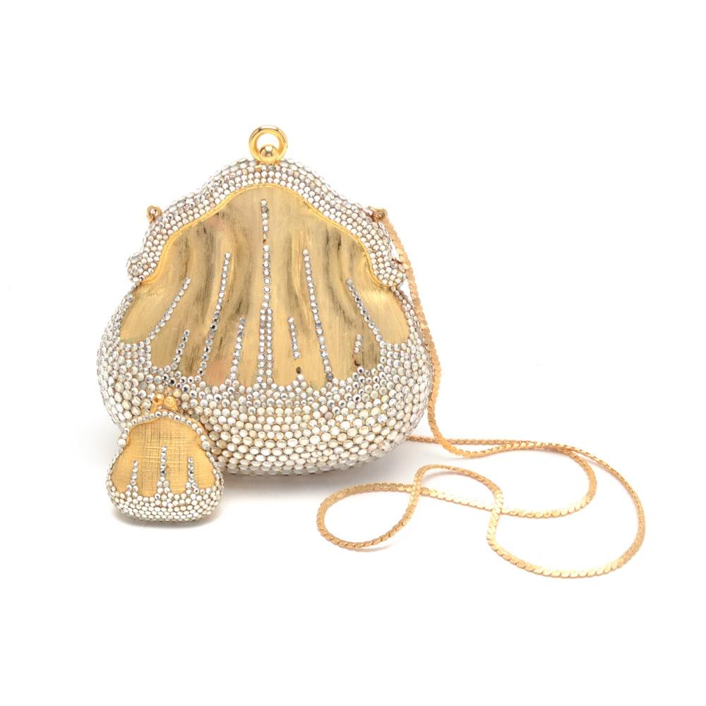 Rare Judith Leiber Chatelaine Minaudiere Bag