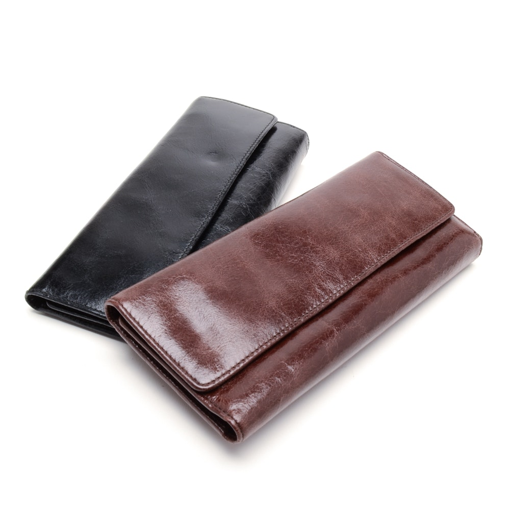 Two Hobo International Leather Wallets