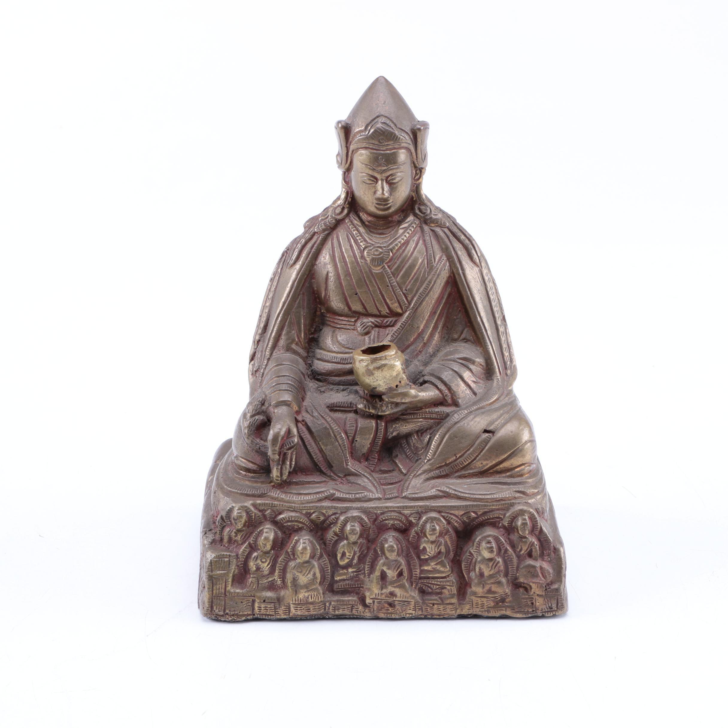 Brass Tibetan Medicine Buddha Figurine