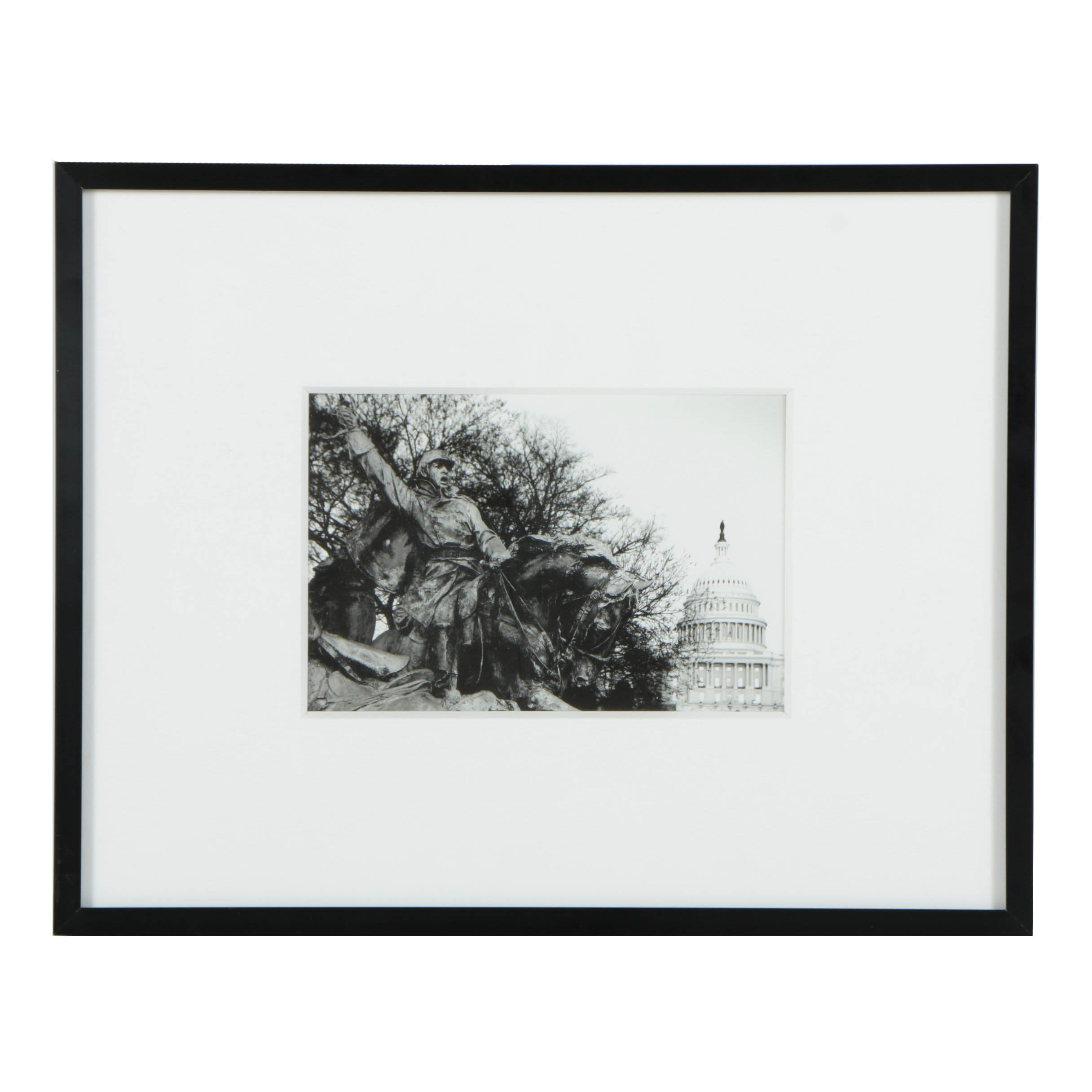 Black and White Photograph on Paper of Ulysses S. Grant Memorial