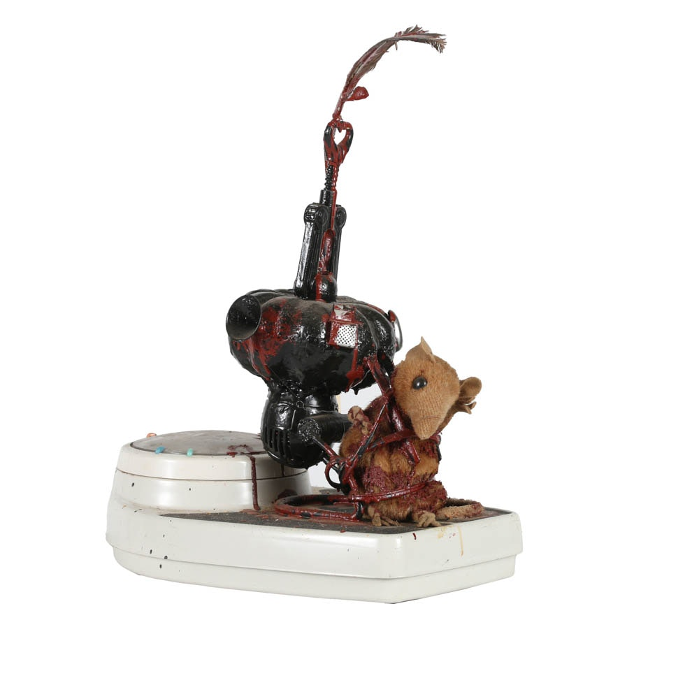 """Frank Kowing Mixed Media Sculpture """"A Better Rat Trap"""""""