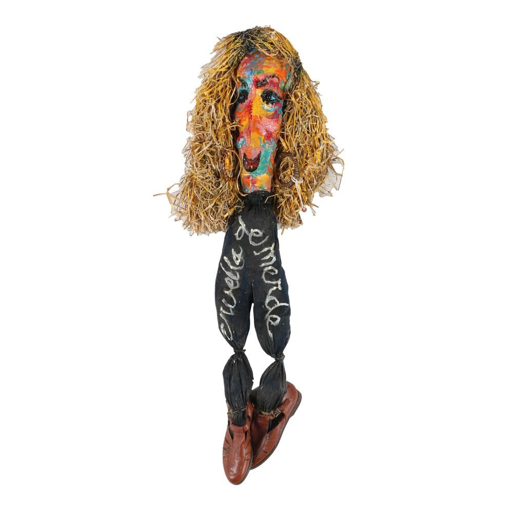 "Frank Kowing Mixed Media Sculpture ""Cruella De Merde (Ann Coulter)"""