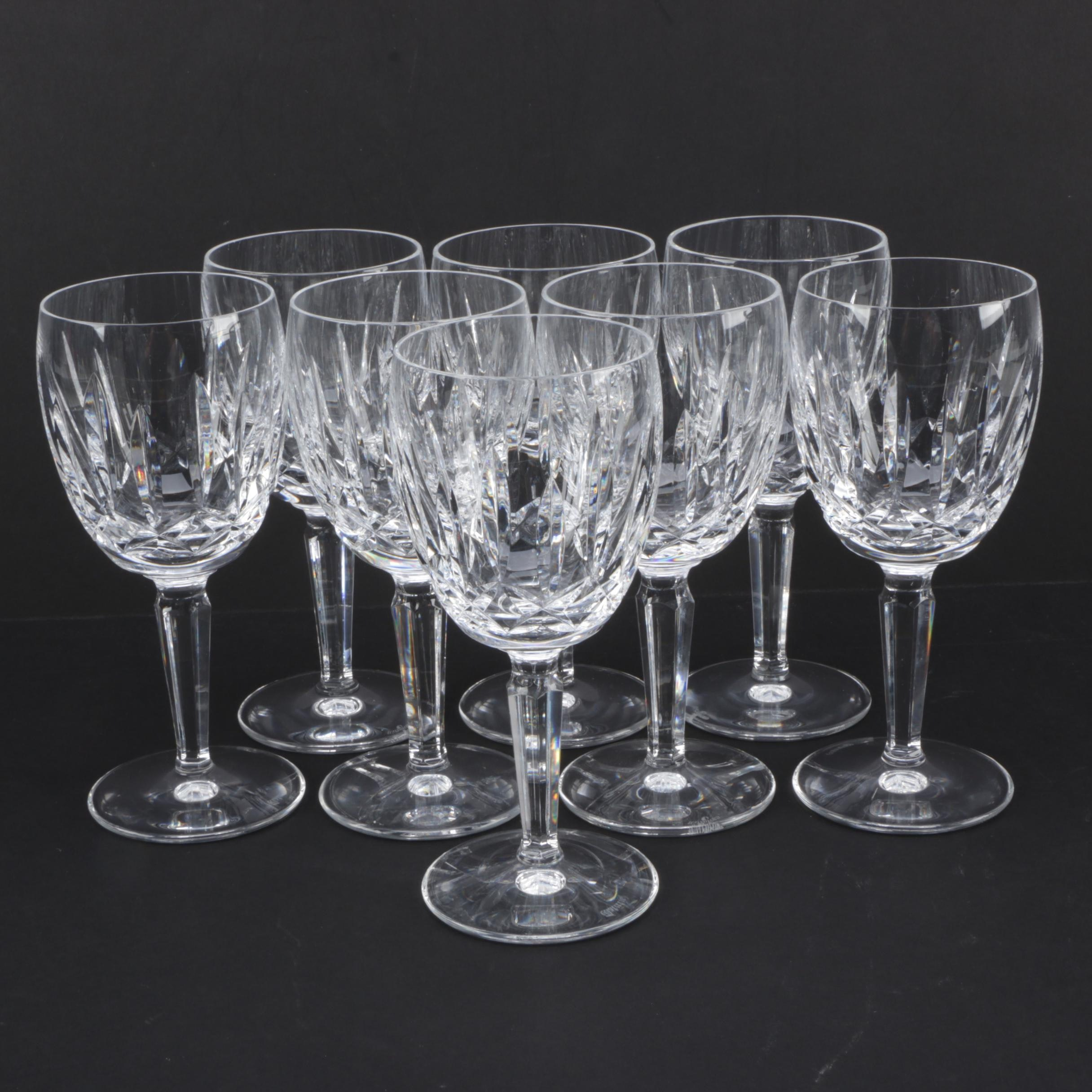 """Waterford """"Kildare"""" Crystal Water Goblets"""