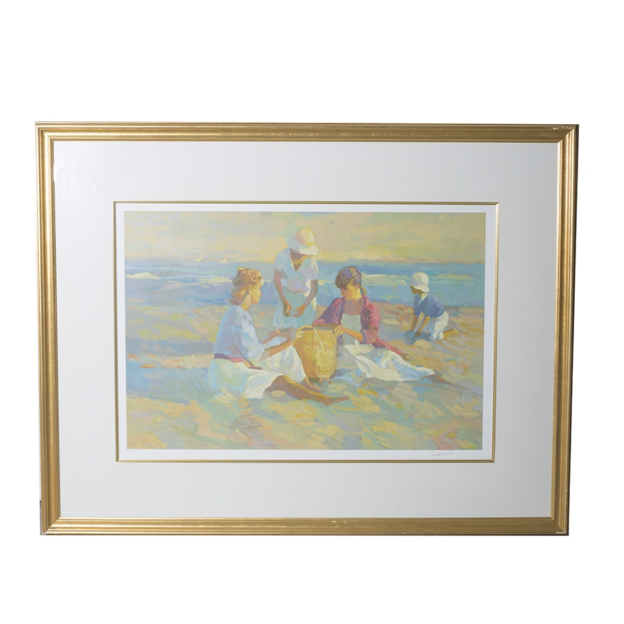 "Don Hatfield Signed Limited Edition Serigraph Titled ""The Basket"""