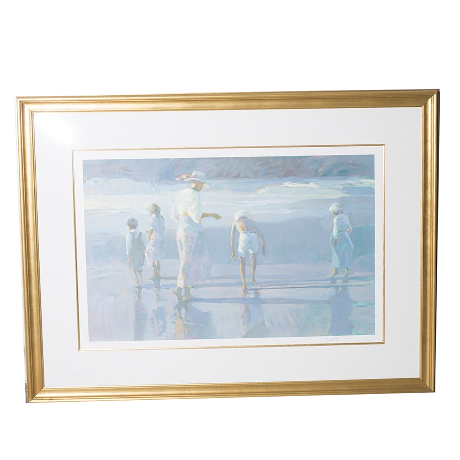 "Don Hatfield Signed Limited Edition Serigraph Titled ""Slack Tide"""