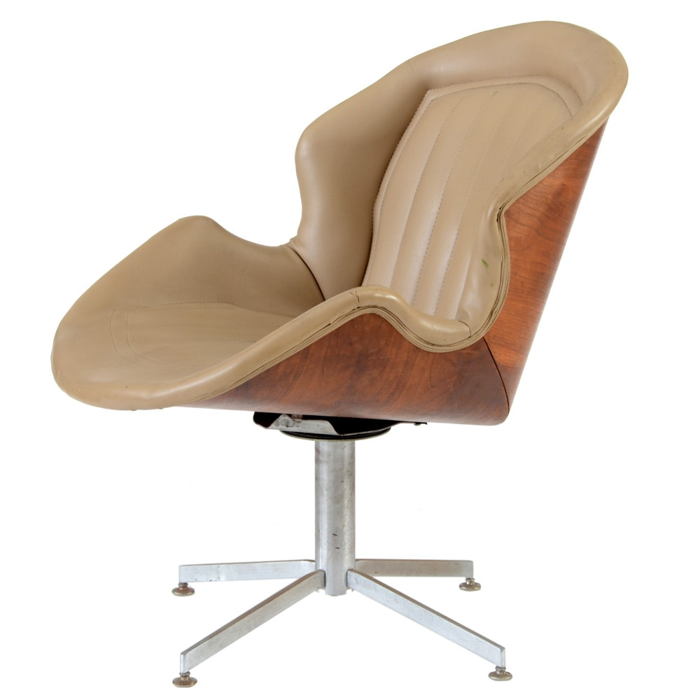 Mid-Century Swivel Desk Chair