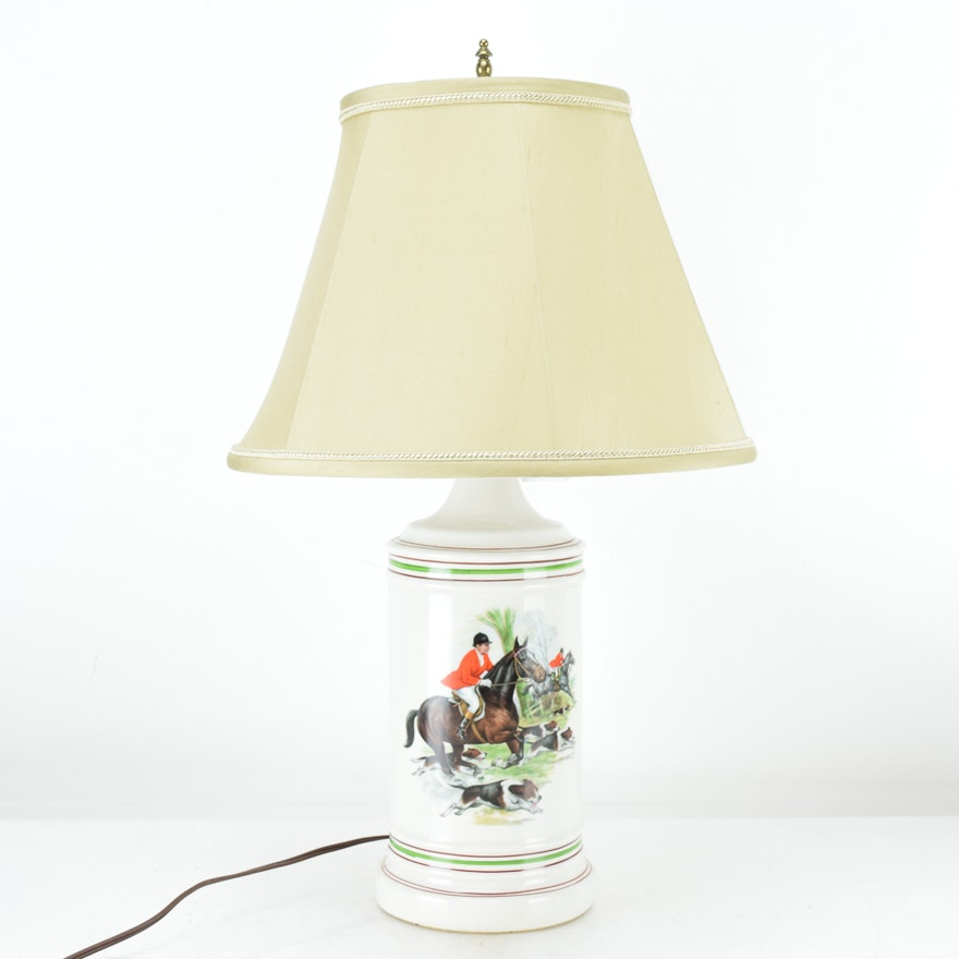 image zoom products lamp table base brynn roll pottery equestrian c over barn to brass