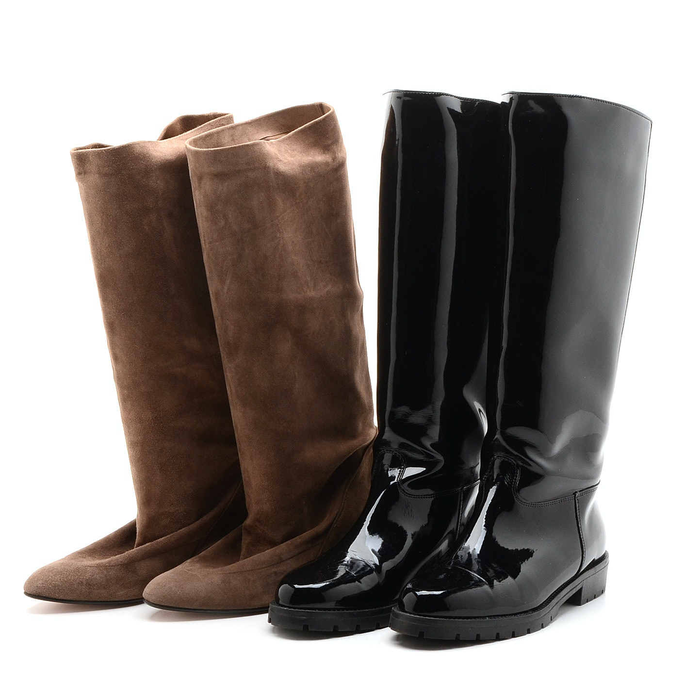 Two Pairs of Women's Vintage Boots