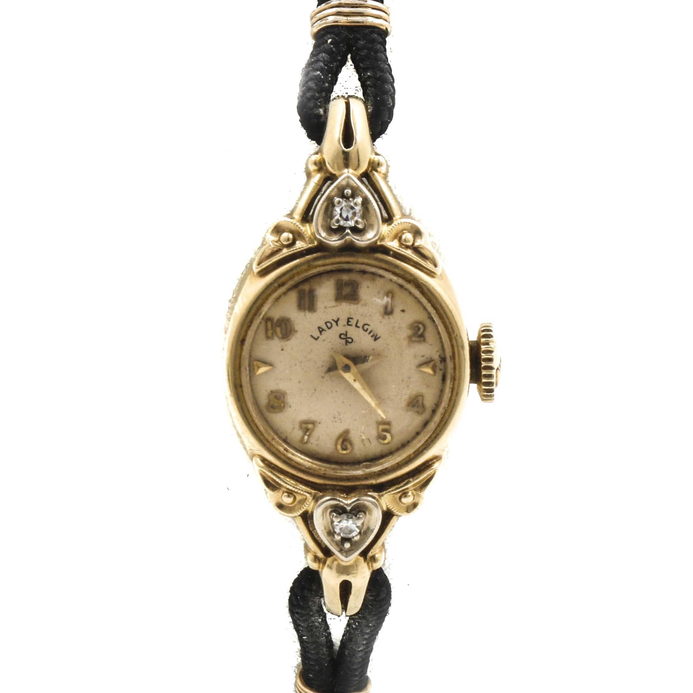 Lady Elgin Diamond Analog Wristwatch