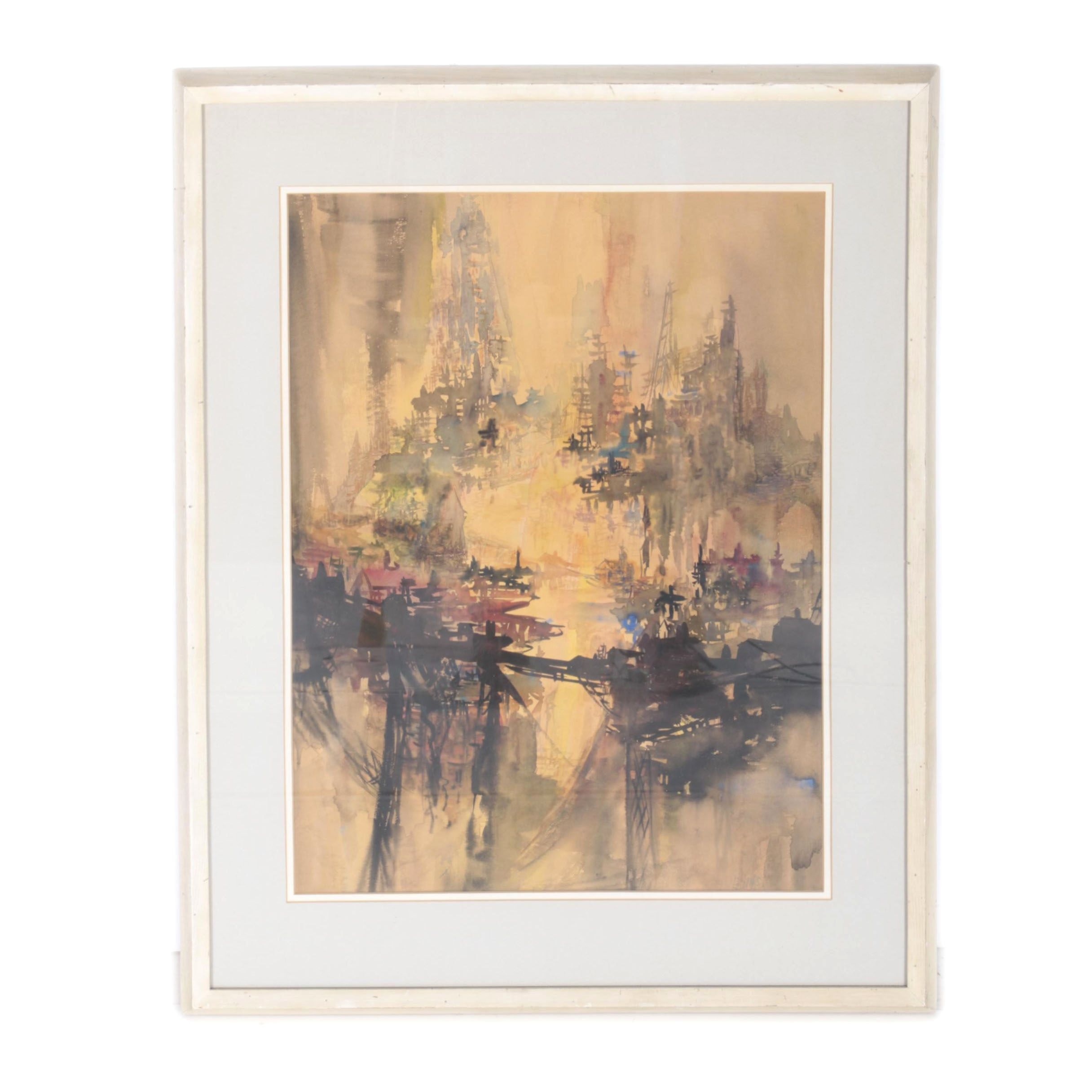 Alins Watercolor Painting of Forest