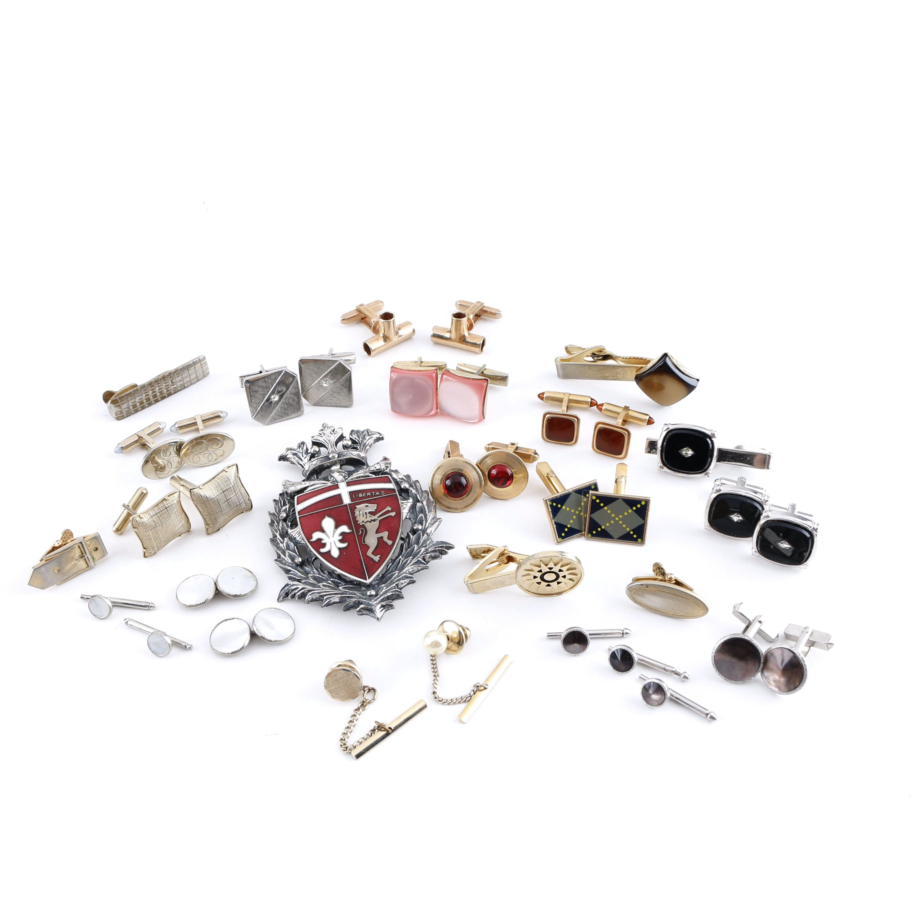 Assortment of Cufflinks and Other Accessories