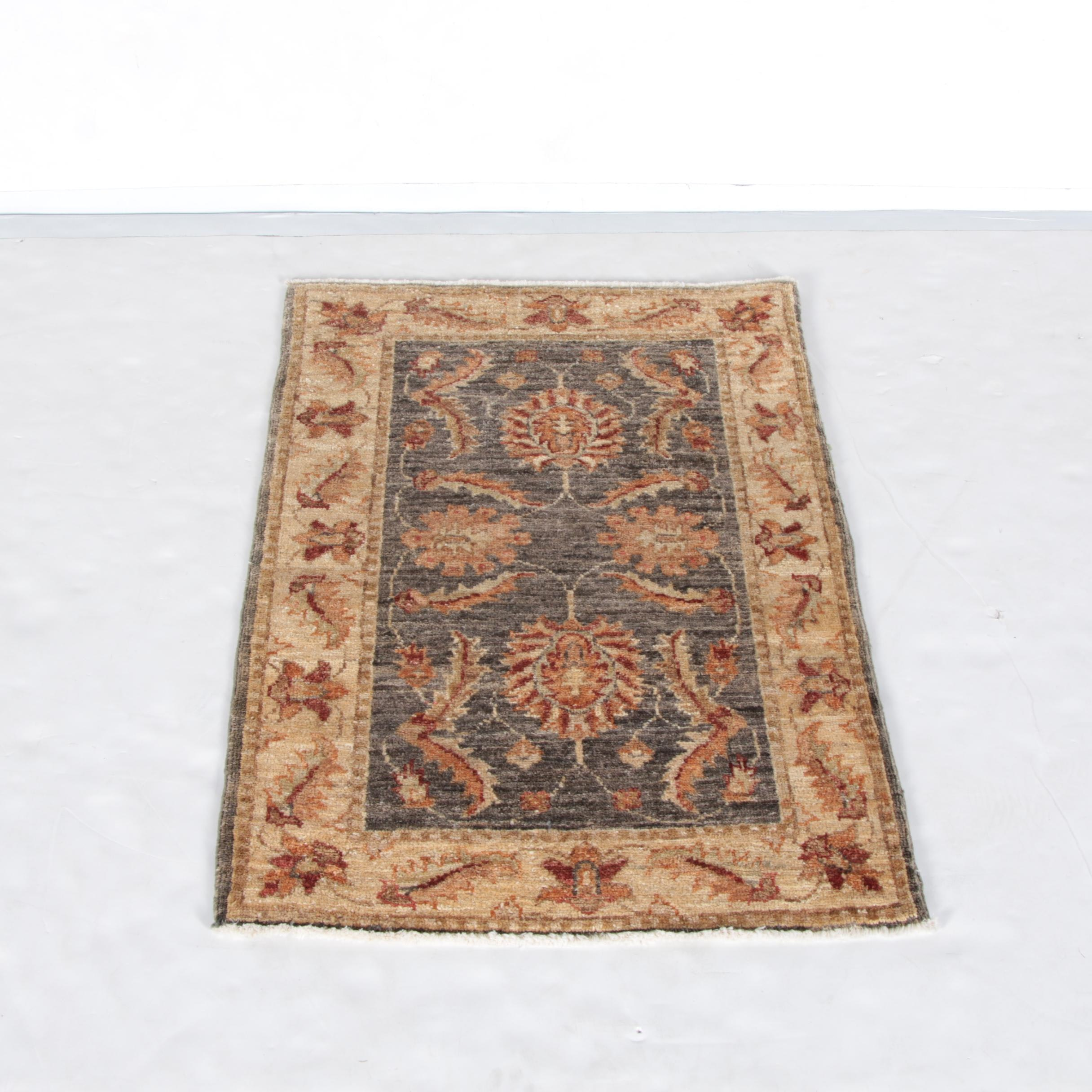 Hand-Knotted Peshawar Style Wool Accent Rug