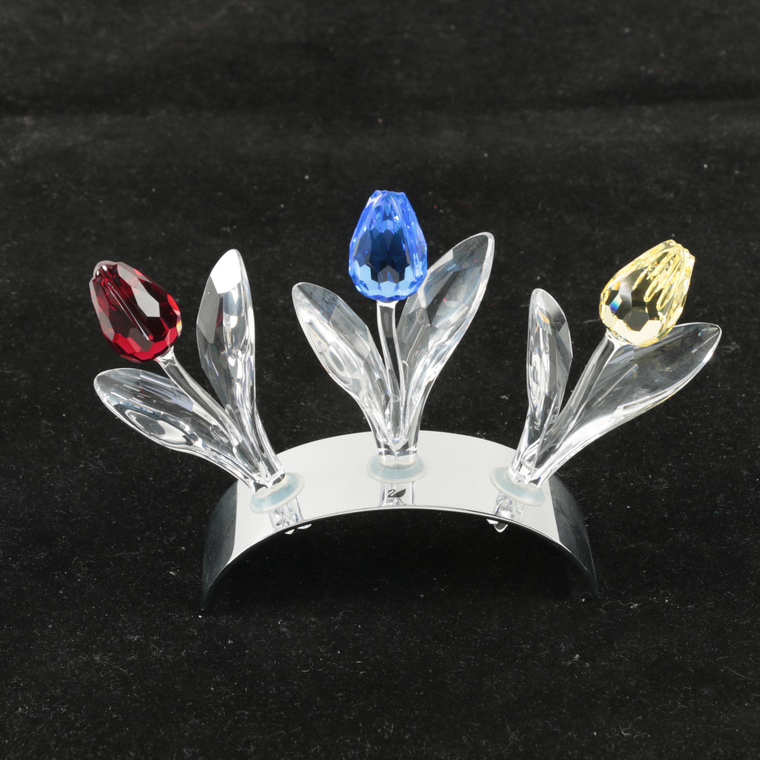 Swarovski Crystal Flower Display in Original Box