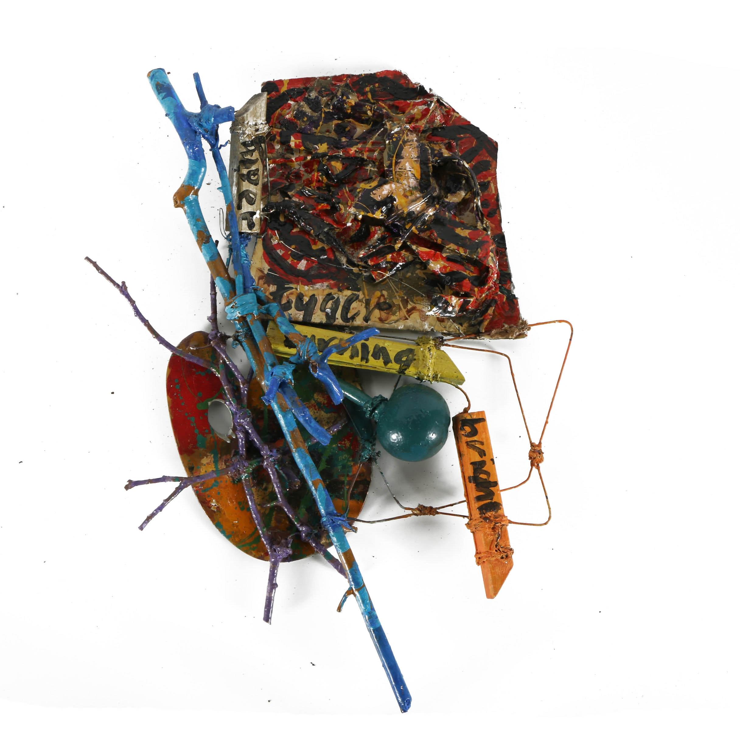 "Frank Kowing Mixed Media Sculpture ""Tyger, Tyger"""
